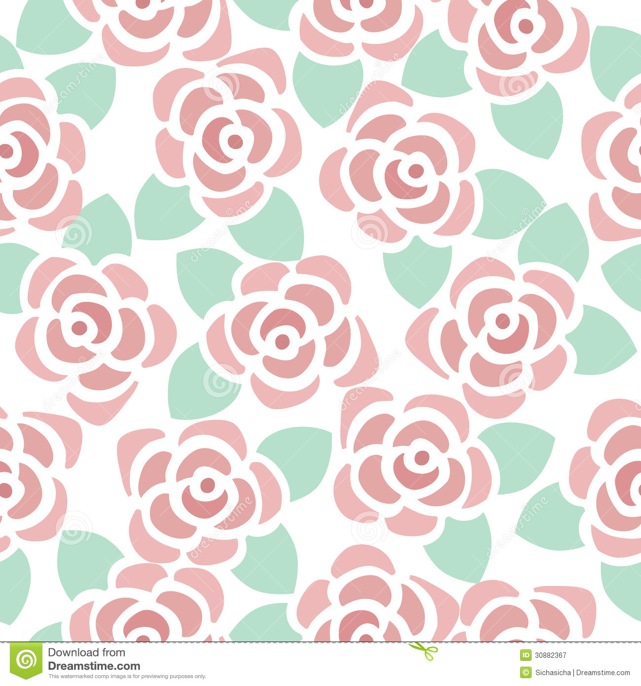 seamless pattern background of cute flowers stock vector