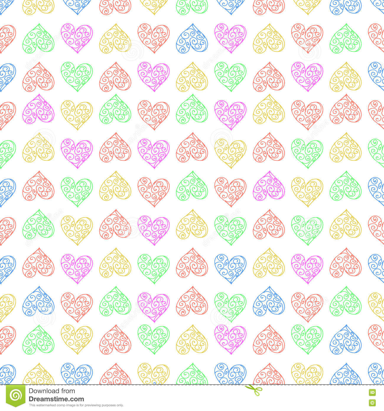 Seamless pattern background heart repeating multi for Imagenes papel pintado