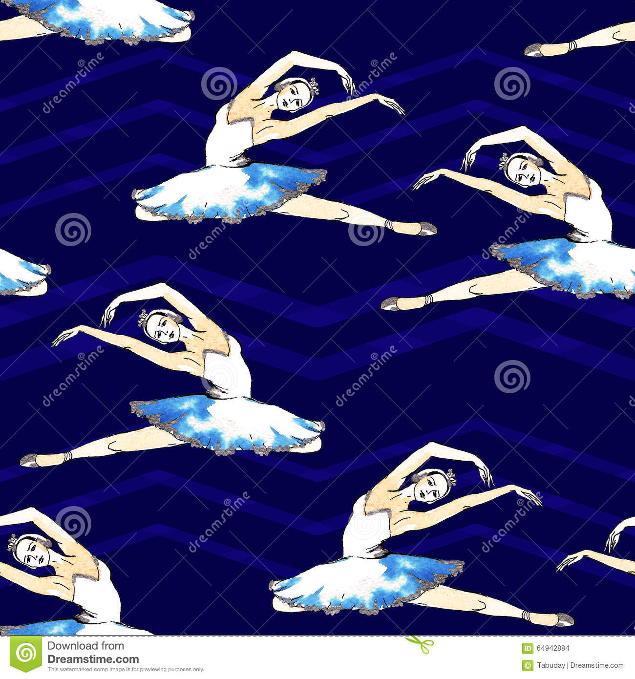 Seamless pattern of ballet dancers royalty free stock photography - Seamless Pattern Ballerinas Stock Images