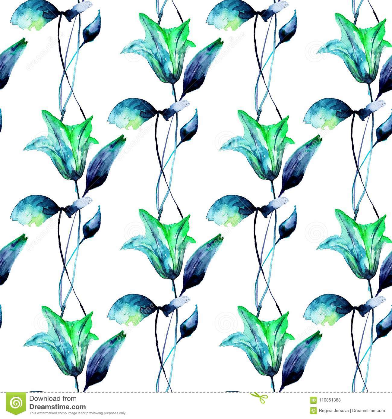 Seamless pattern with beautiful lily flowers stock illustration seamless pattern with beautiful lily flowers izmirmasajfo