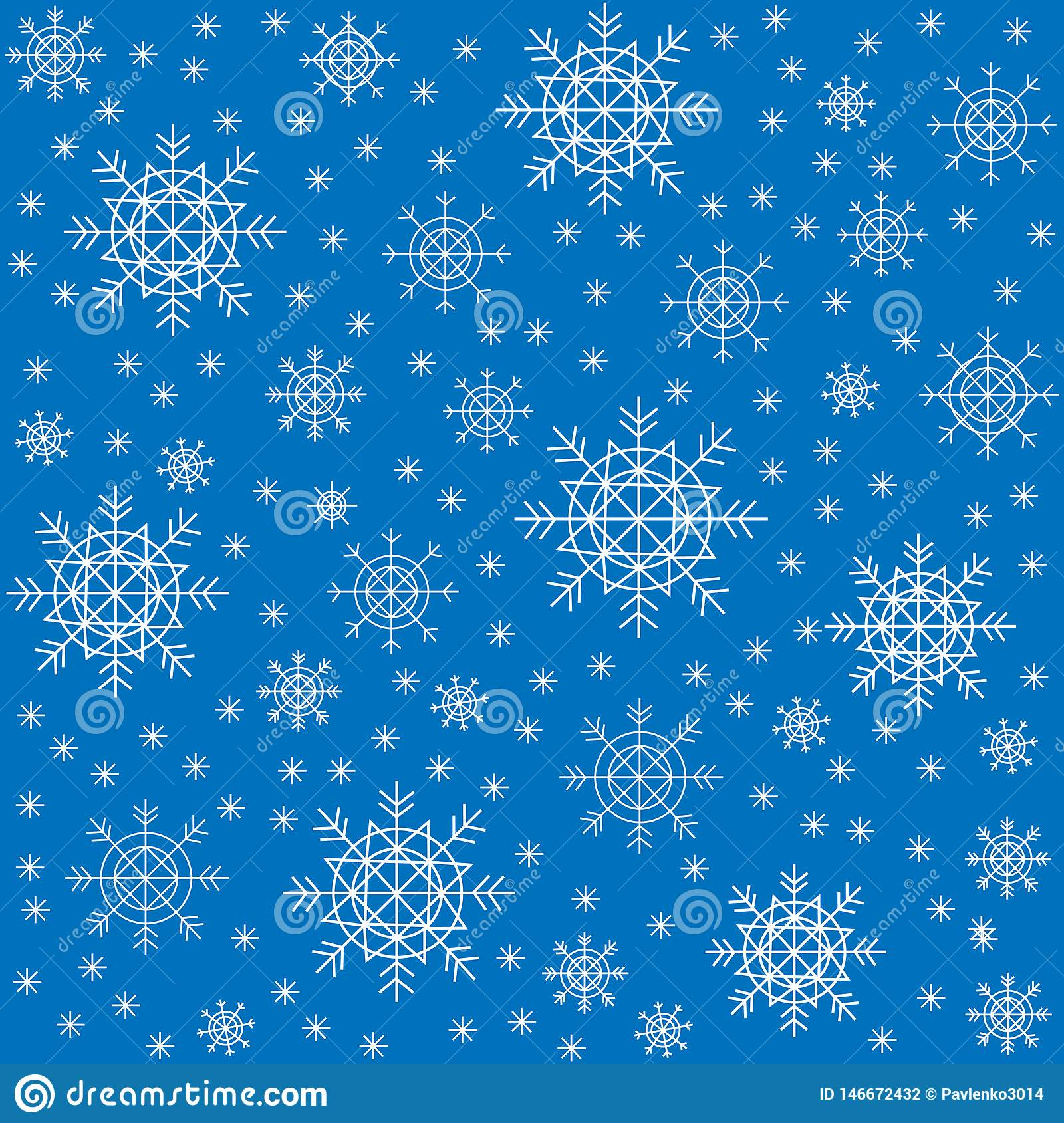 Seamless pattern. Beautiful winter snowflakes. Suitable as packaging for Christmas gifts. Creates a festive mood. Vector