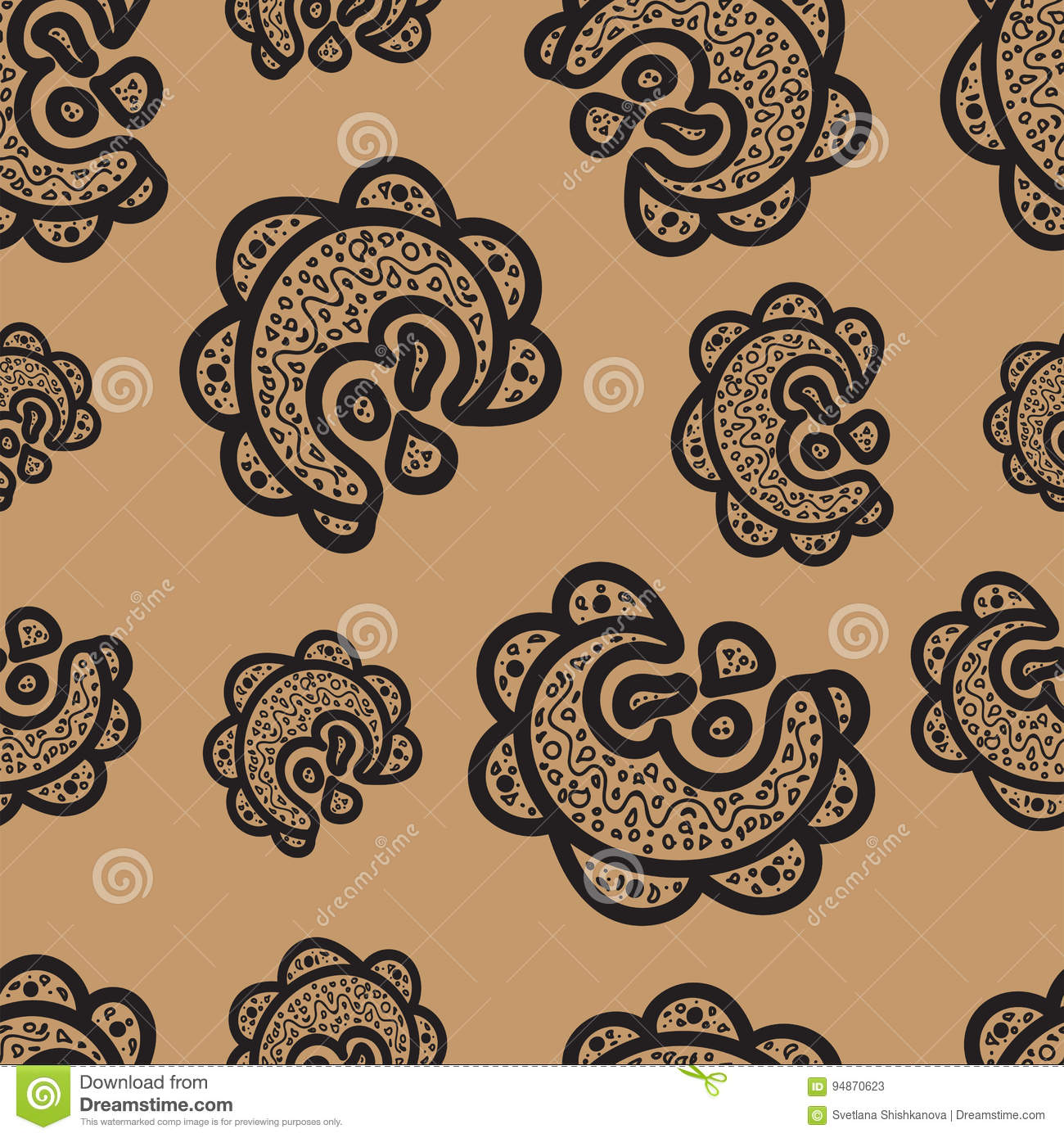 seamless doodle coffee pattern - photo #16