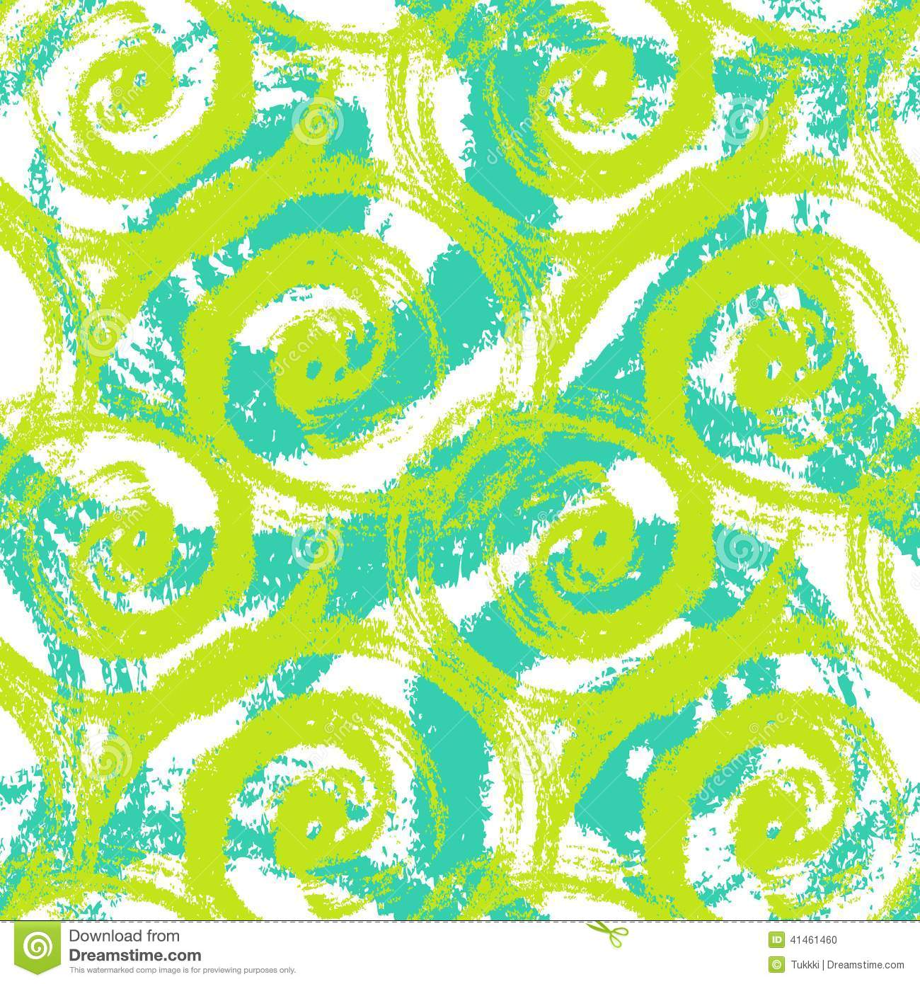 Seamless pattern with bold swirling brush strokes stock for Lime and blue