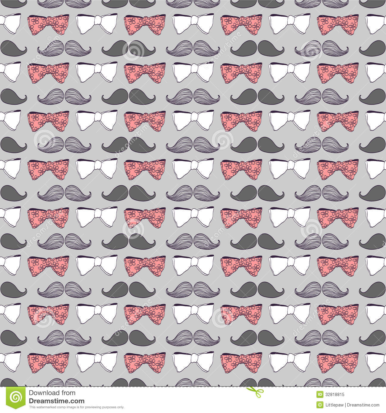 Cute Bow Pattern Wallpaper Seamless pattern bow ties and