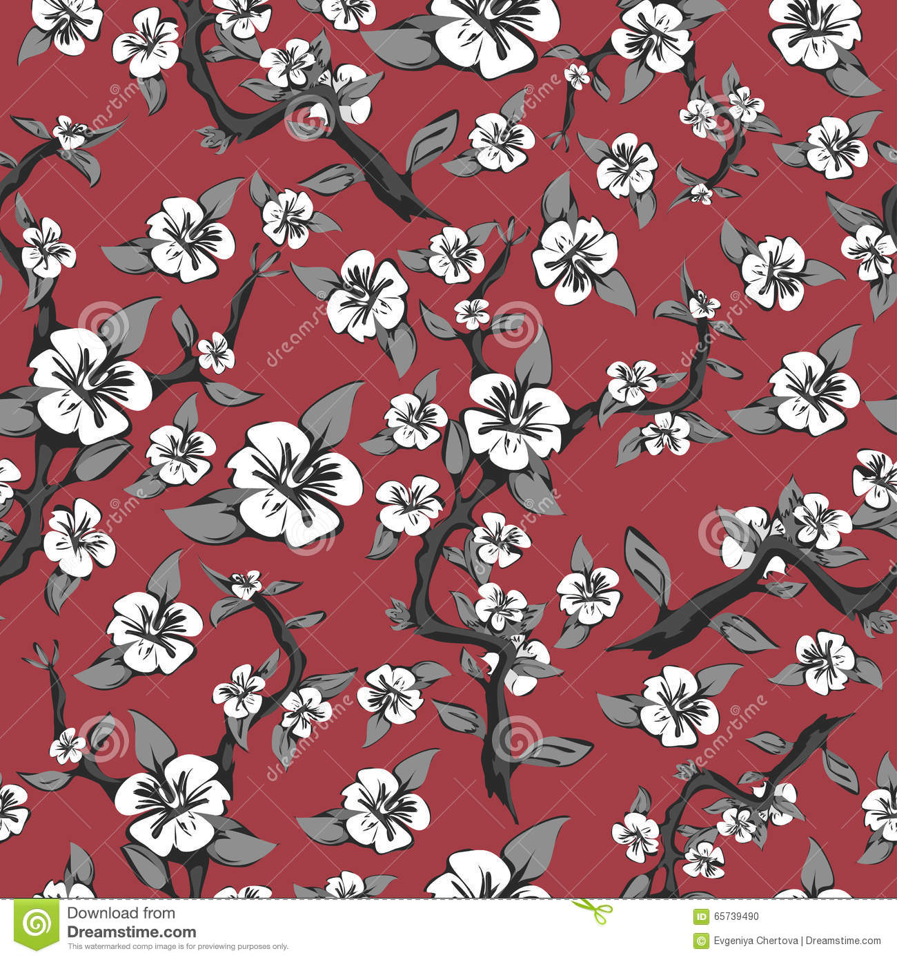 Seamless pattern of branches and white flowers on a pink apple background branches flowers illustration pattern pink seamless vector white dhlflorist Choice Image
