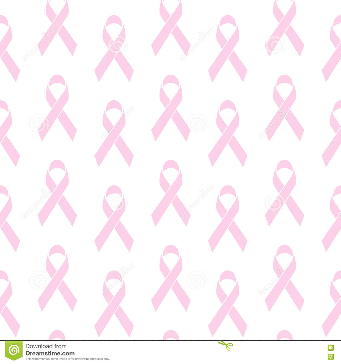 Breast Cancer Awareness Ribbon Sign Seamless Pattern