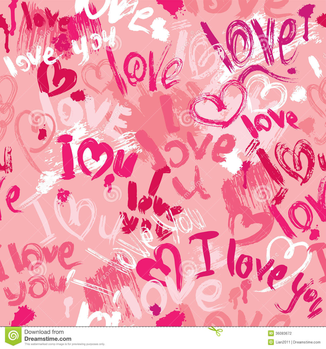 Love Shape Design Wallpaper : Seamless Pattern With Brush Strokes And Scribbles Stock Photography - Image: 36083672