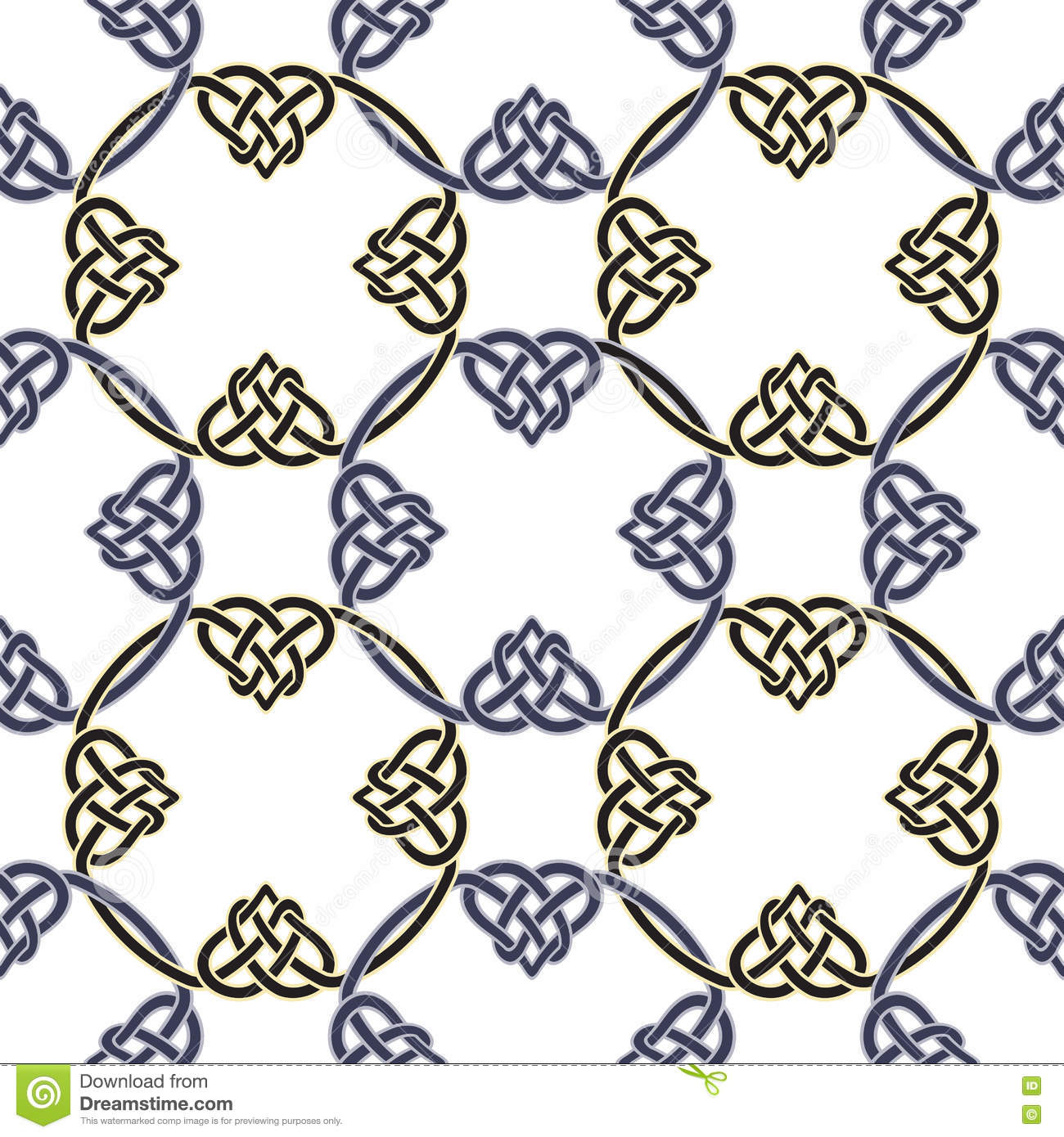 Seamless Pattern With Celtic Knots Vector Stock Vector