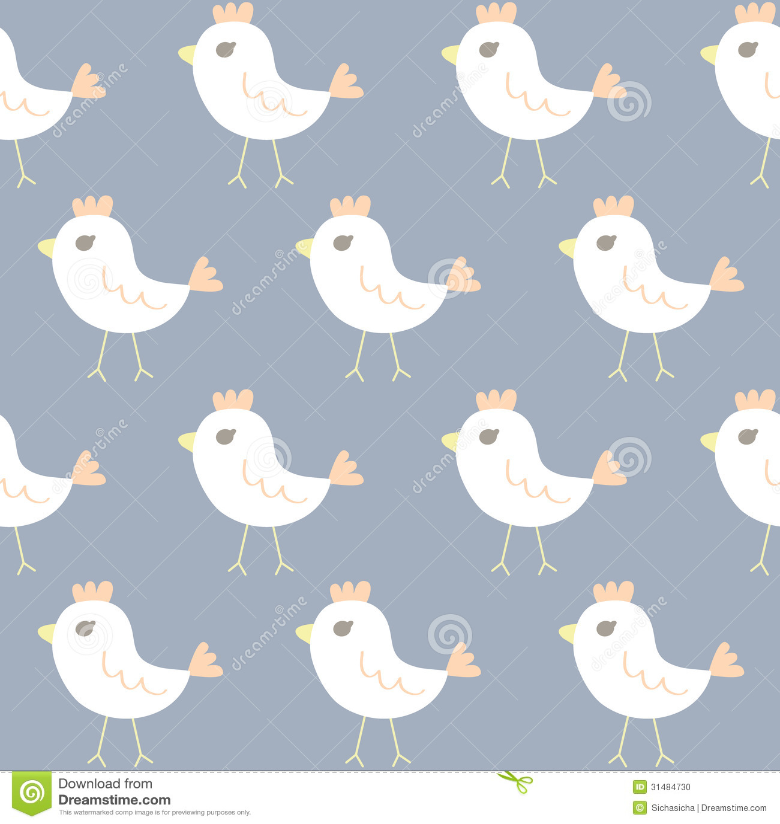 seamless pattern of chicken cartoon stock photo image 31484730