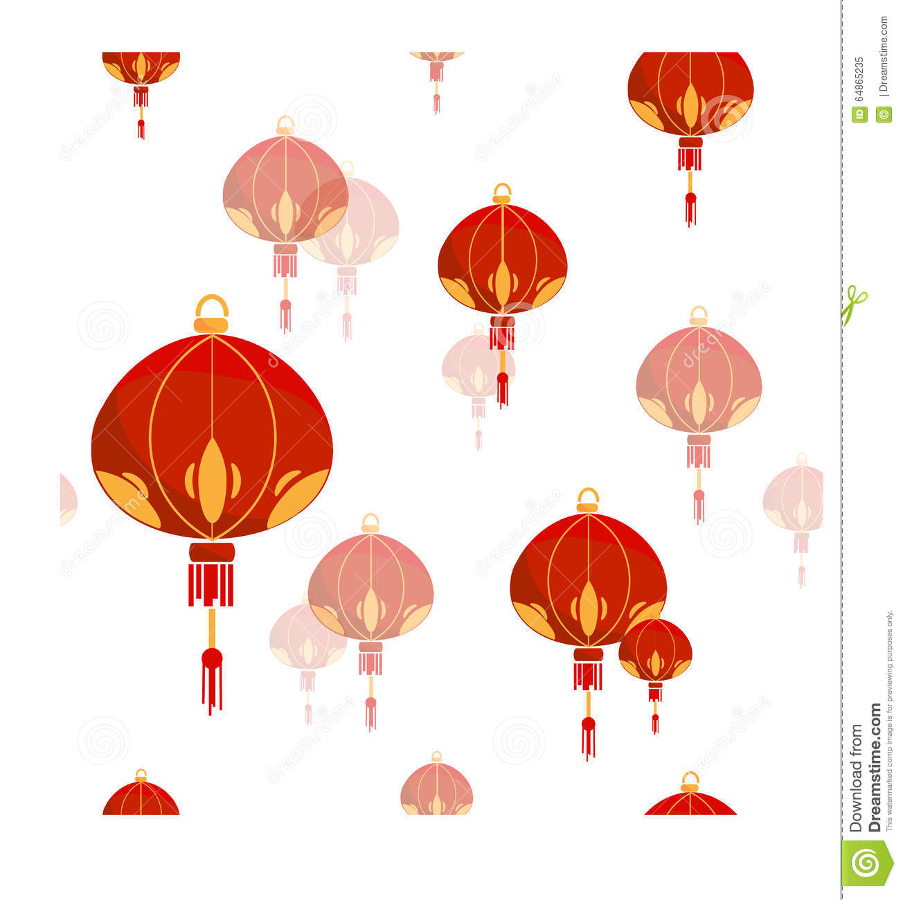 Seamless Pattern With Chinese Lantern. Stock Vector ...