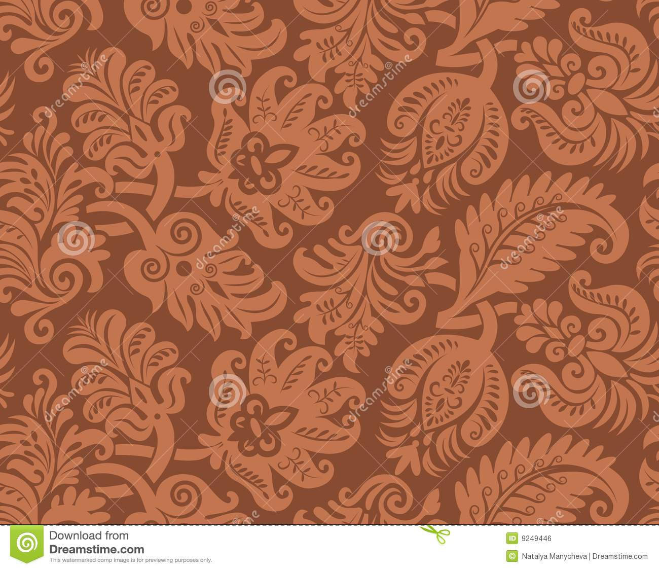 Seamless Pattern Of Classic Wallpaper Royalty Free Stock