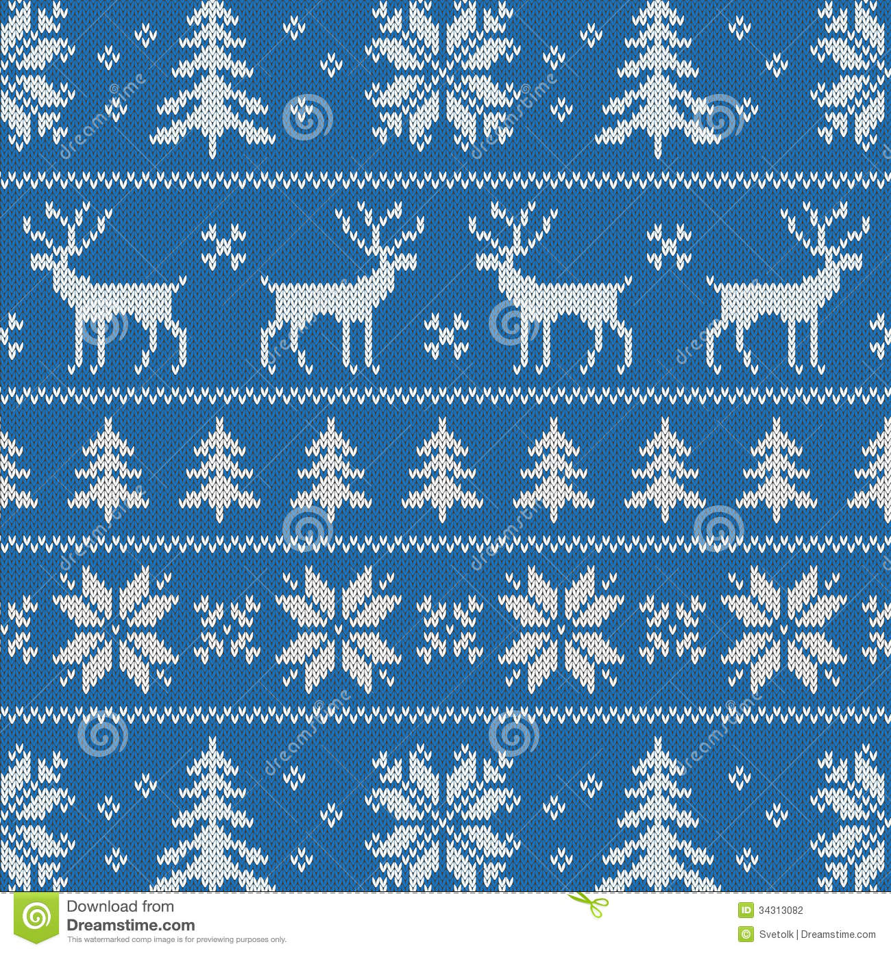 ... pattern with winter sweater design - deer, snowflake and christmas