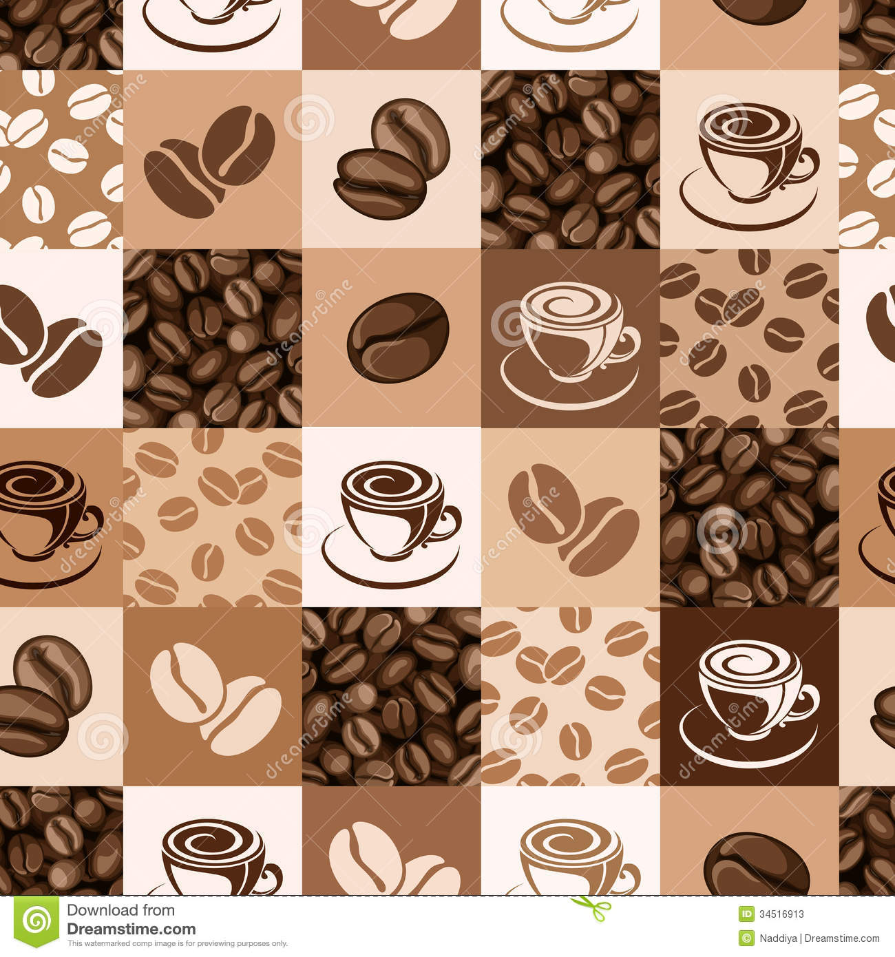coffee beans and cups  Coffee Beans And Cup Background