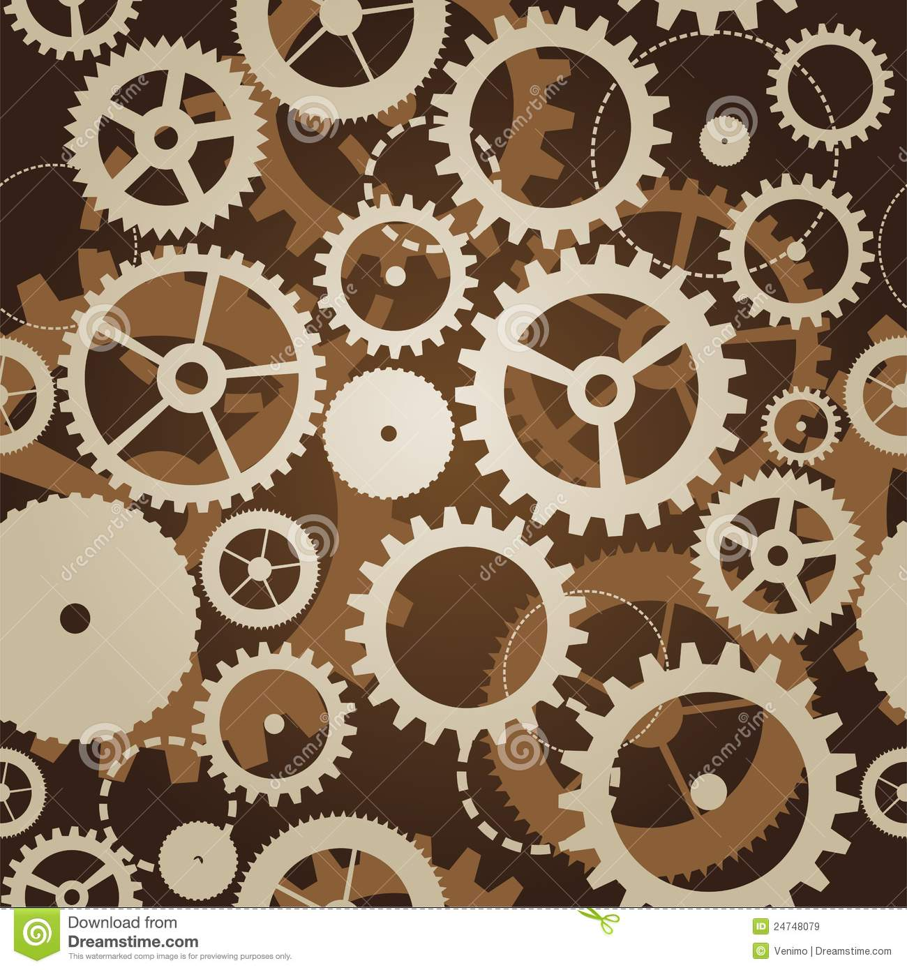 Seamless Pattern With Cogs And Gears Stock Illustration ...