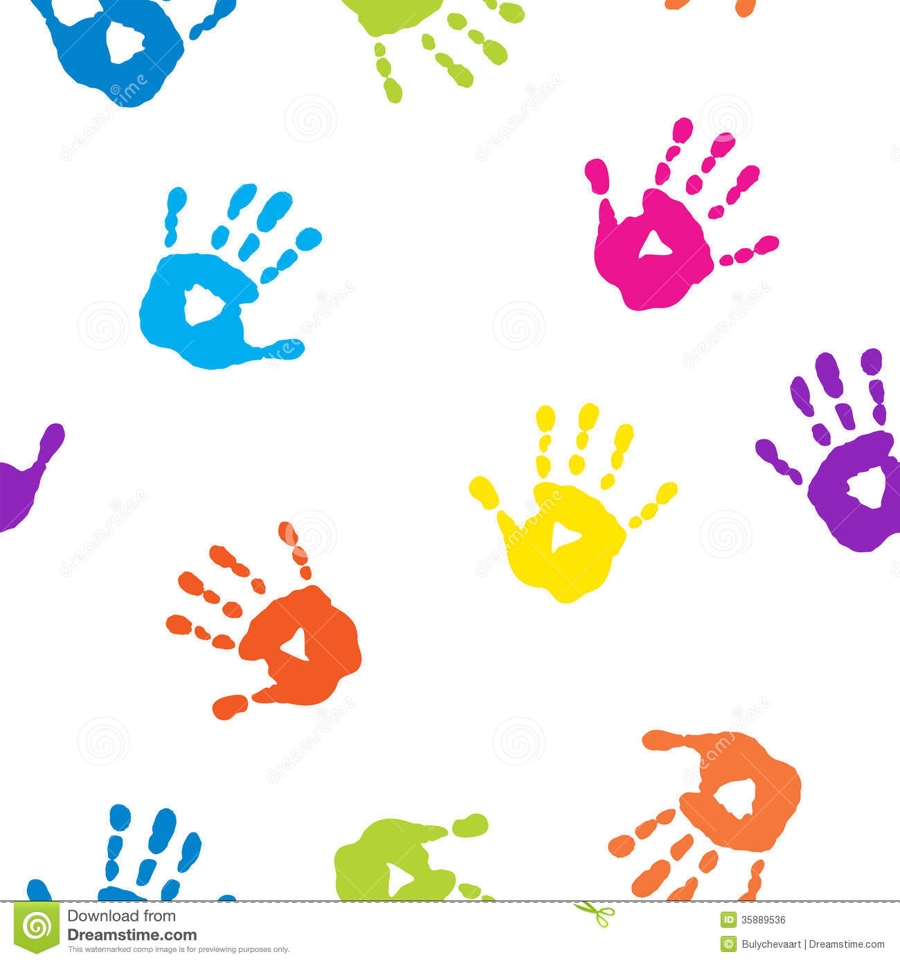 Kids Handprints Clipart | Info