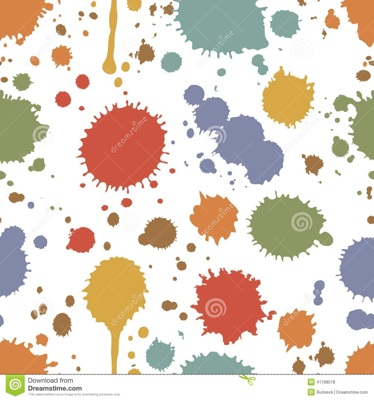 Seamless Pattern Of Colorful Stains And Splashes Stock ...
