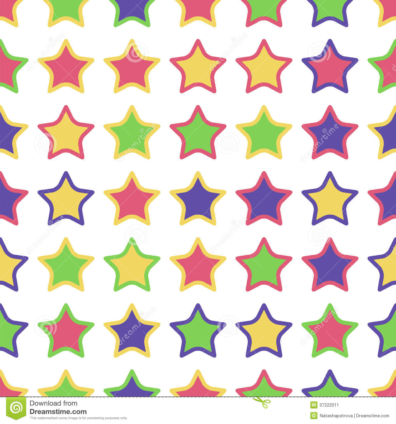 Seamless Pattern Of Colorful Stars Stock Vector - Image ...