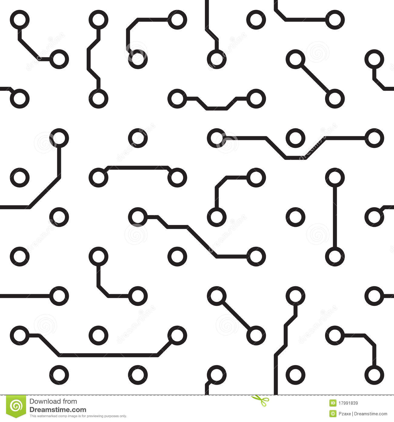 seamless pattern - computer circuit board royalty free stock images
