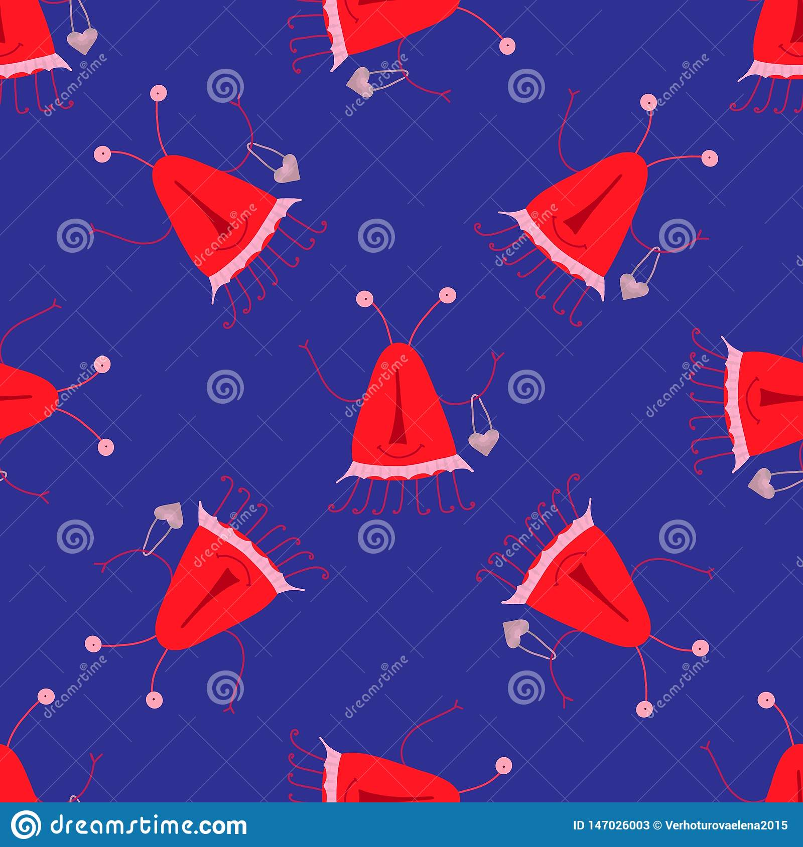 Seamless pattern cute monsters, great design for any purposes. Childish vector illustration. Children design pattern background.