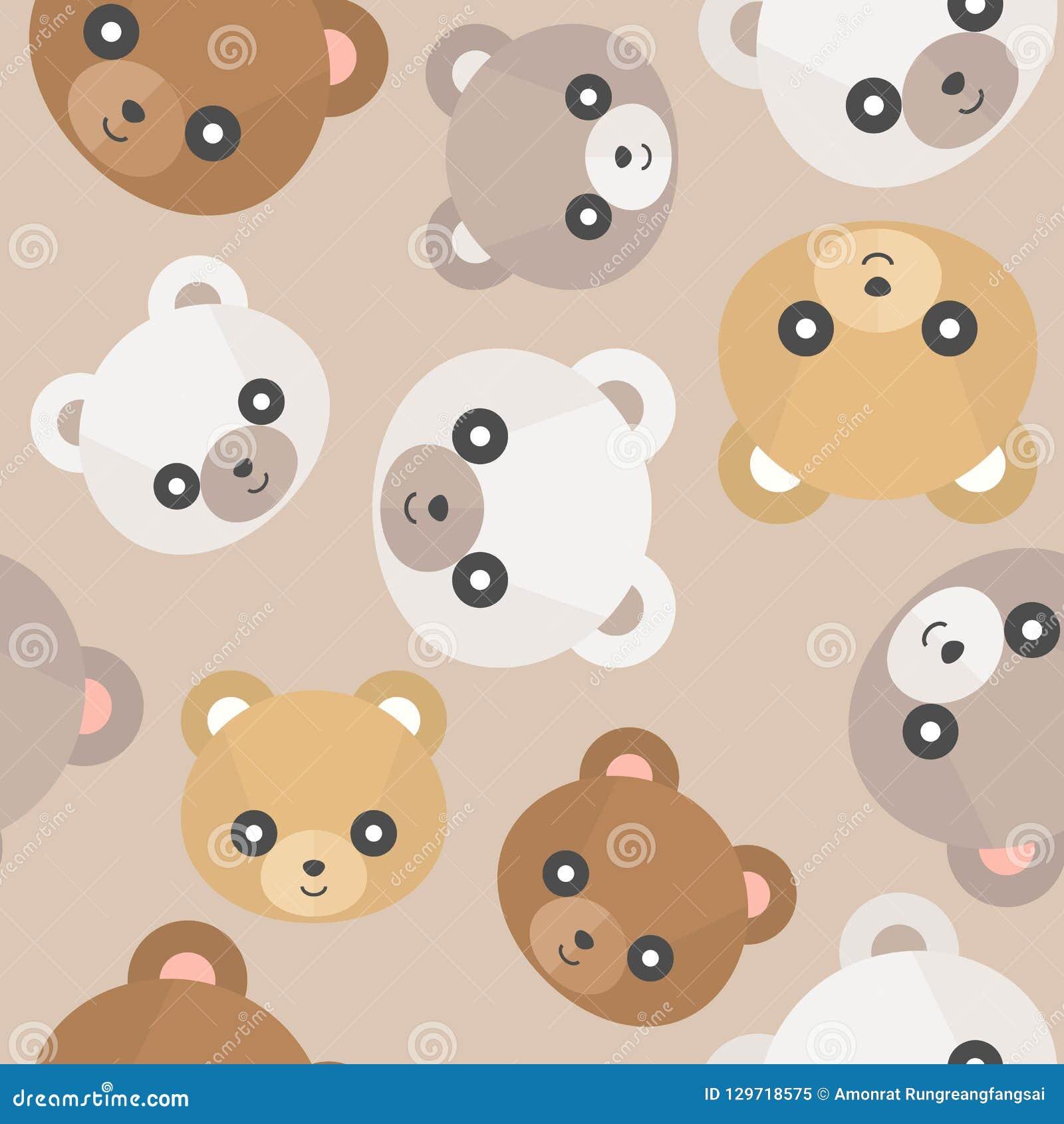 Free Vector | Teddy bear face head badge concept