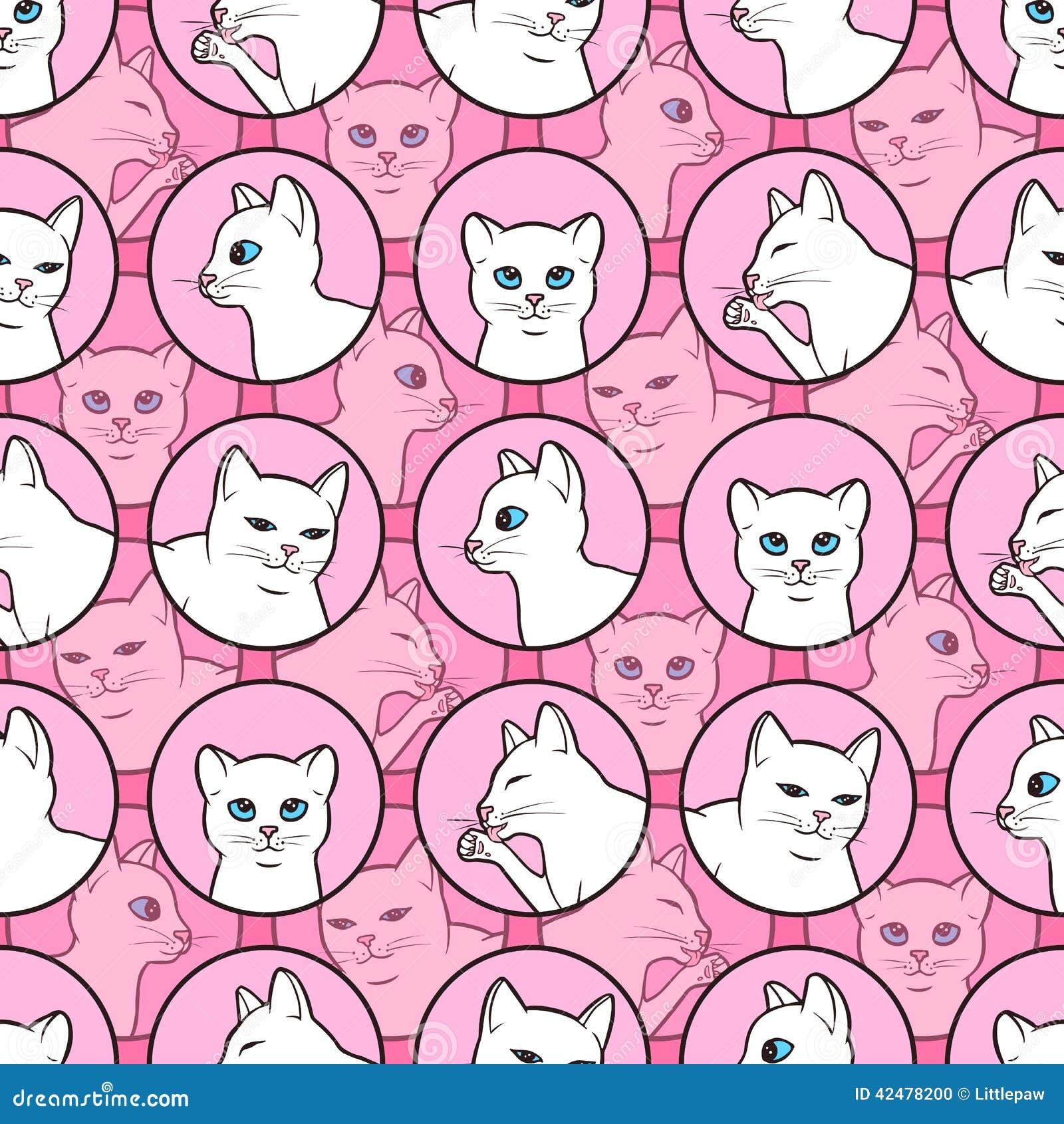 cute cat pattern wallpaper