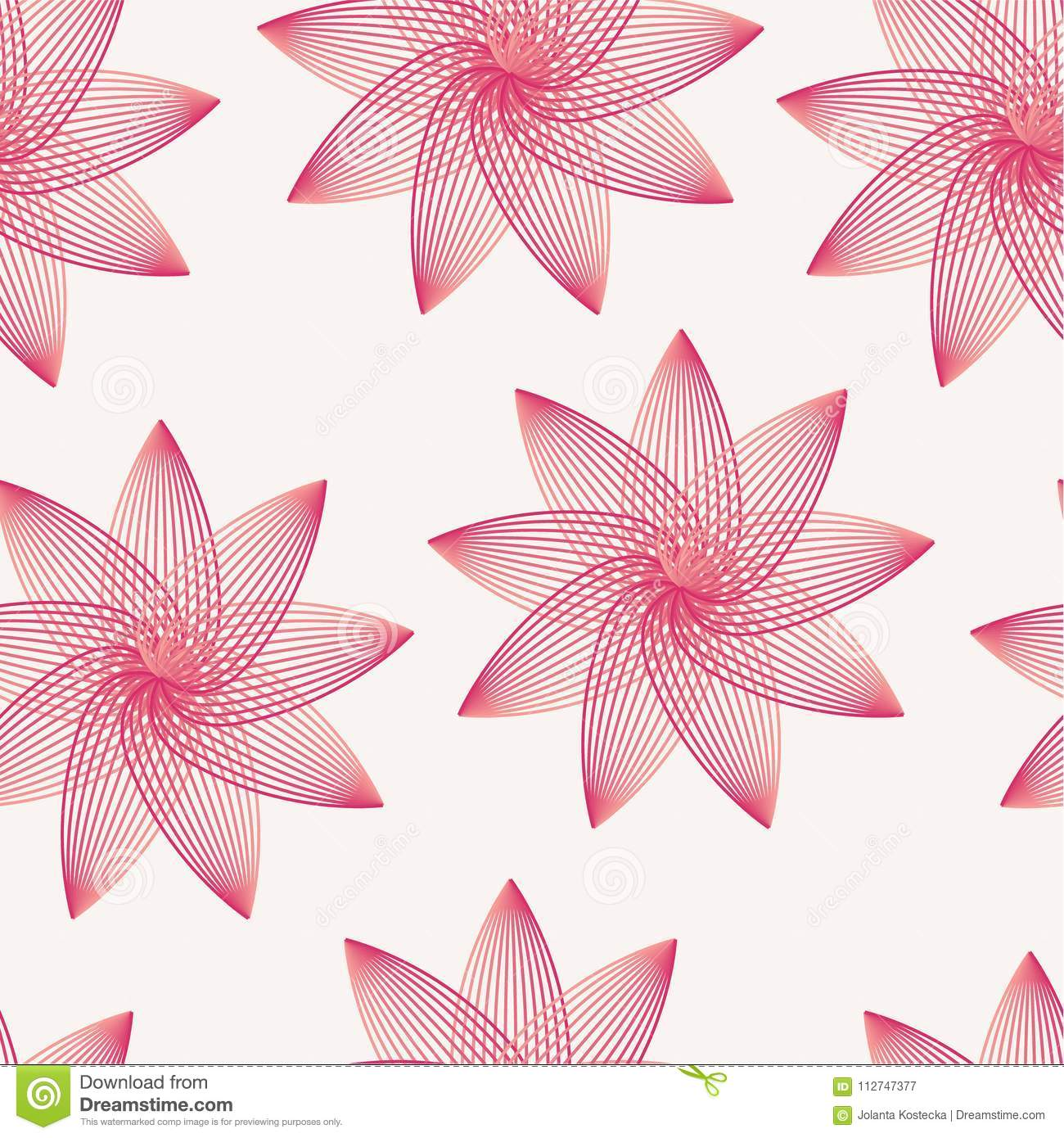 Seamless Pattern With Delicate Pink Flowers Stock Vector