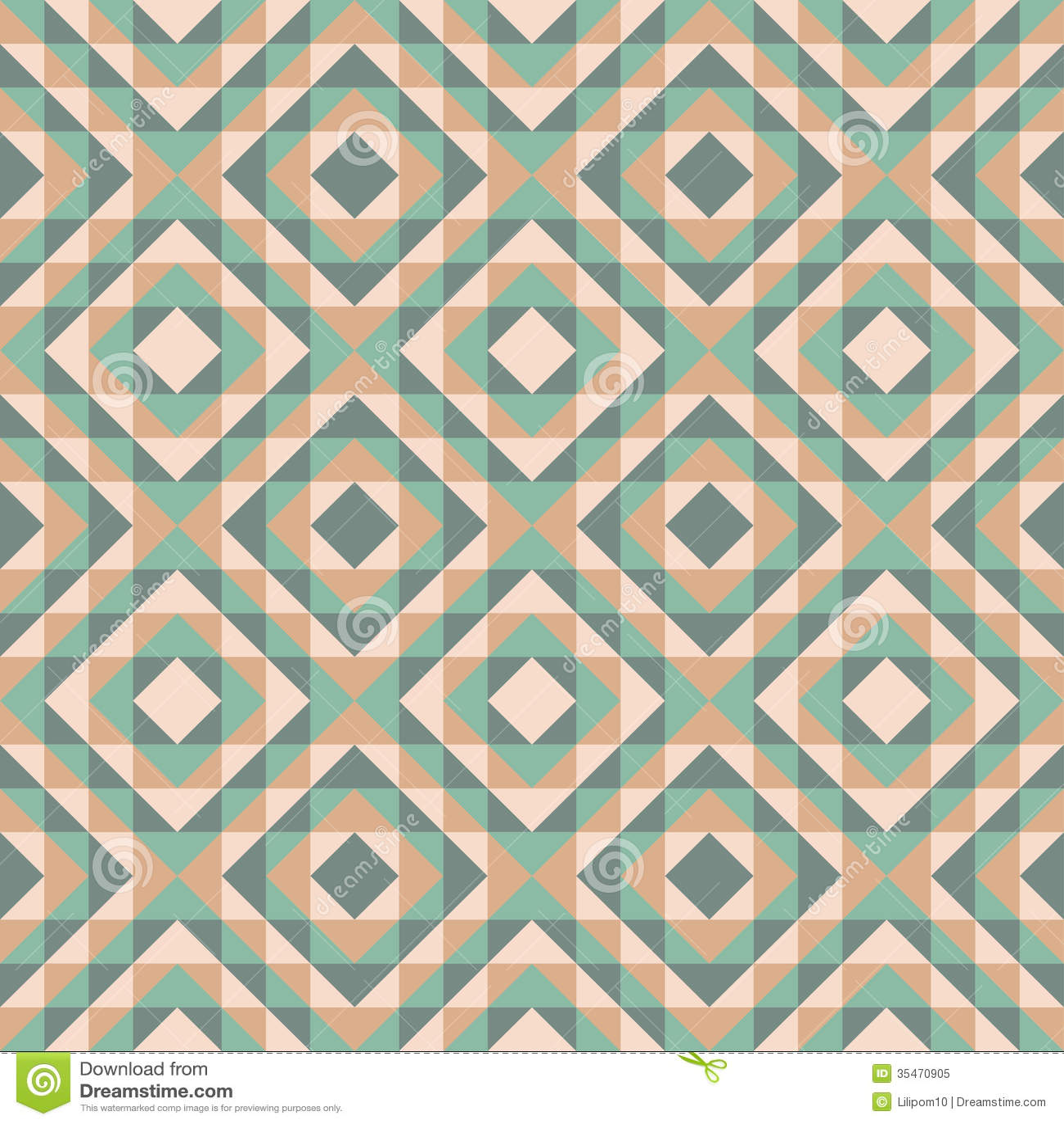 Seamless Pattern With Diamond Design Stock Vector Image