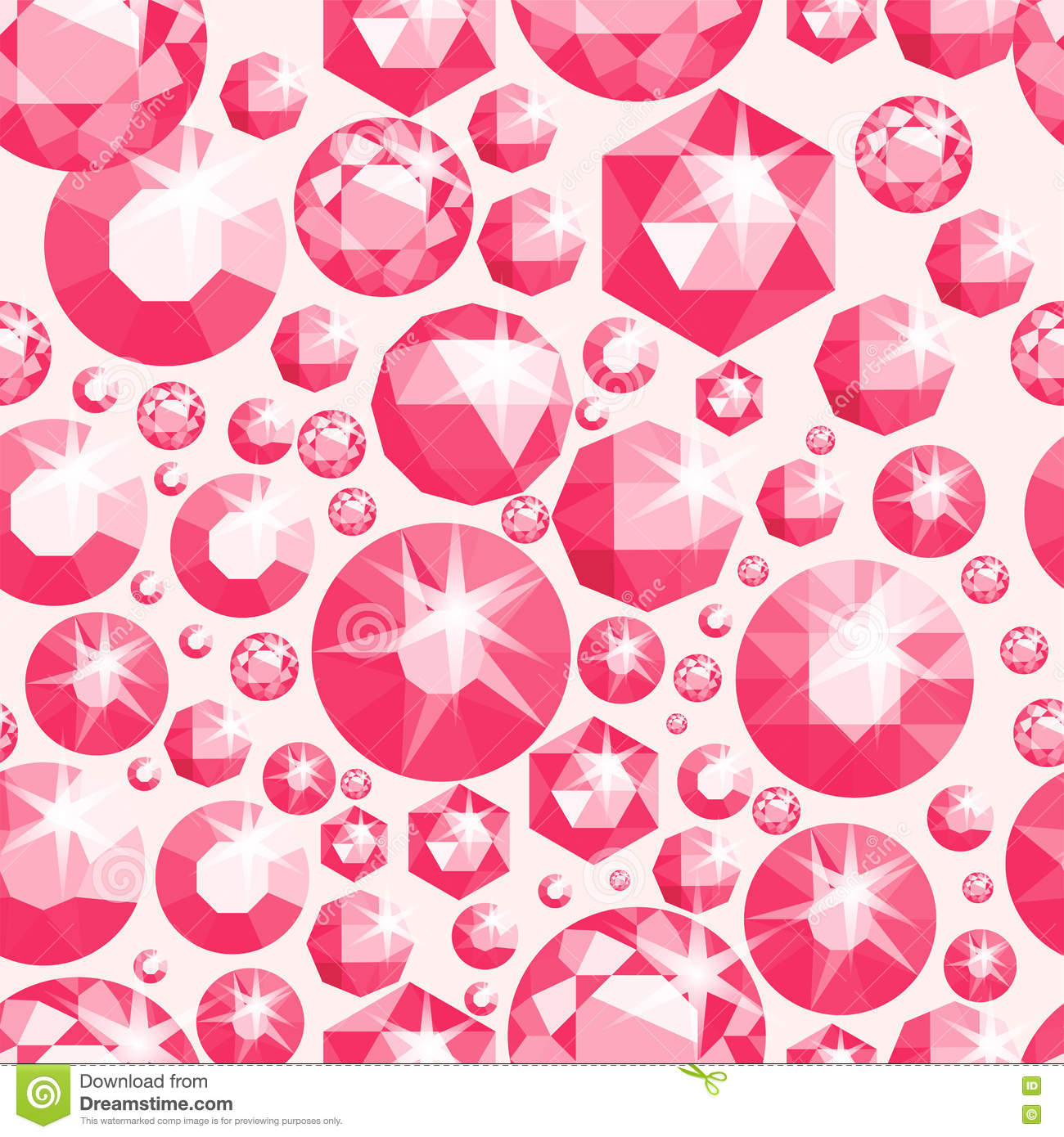 Seamless pattern with different jewels seamless gemstones for Different wallpaper designs