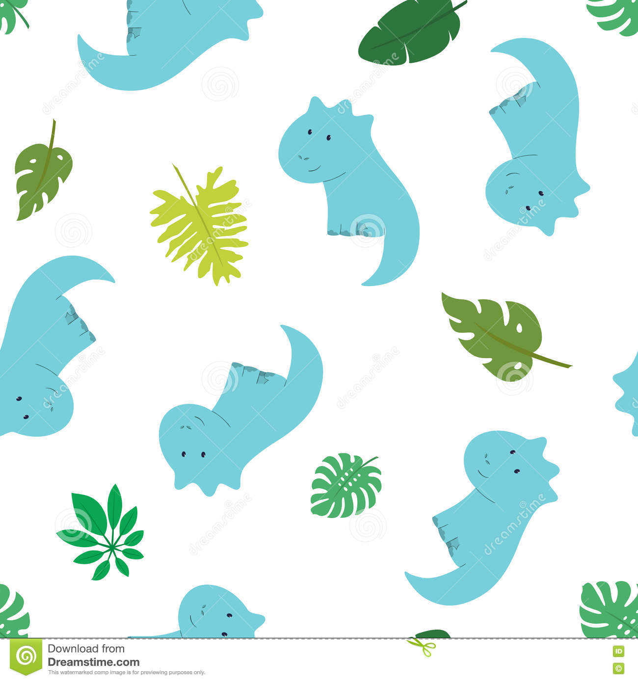 Seamless pattern of dino 1 stock vector image of lizard for Kids apparel fabric