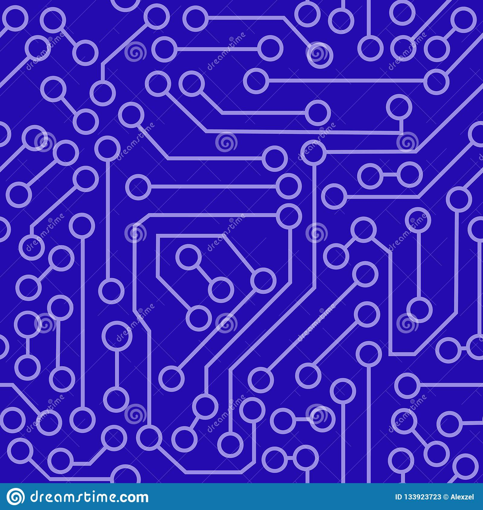 Pattern Of Electronic Circuit Stock Vector Illustration Of
