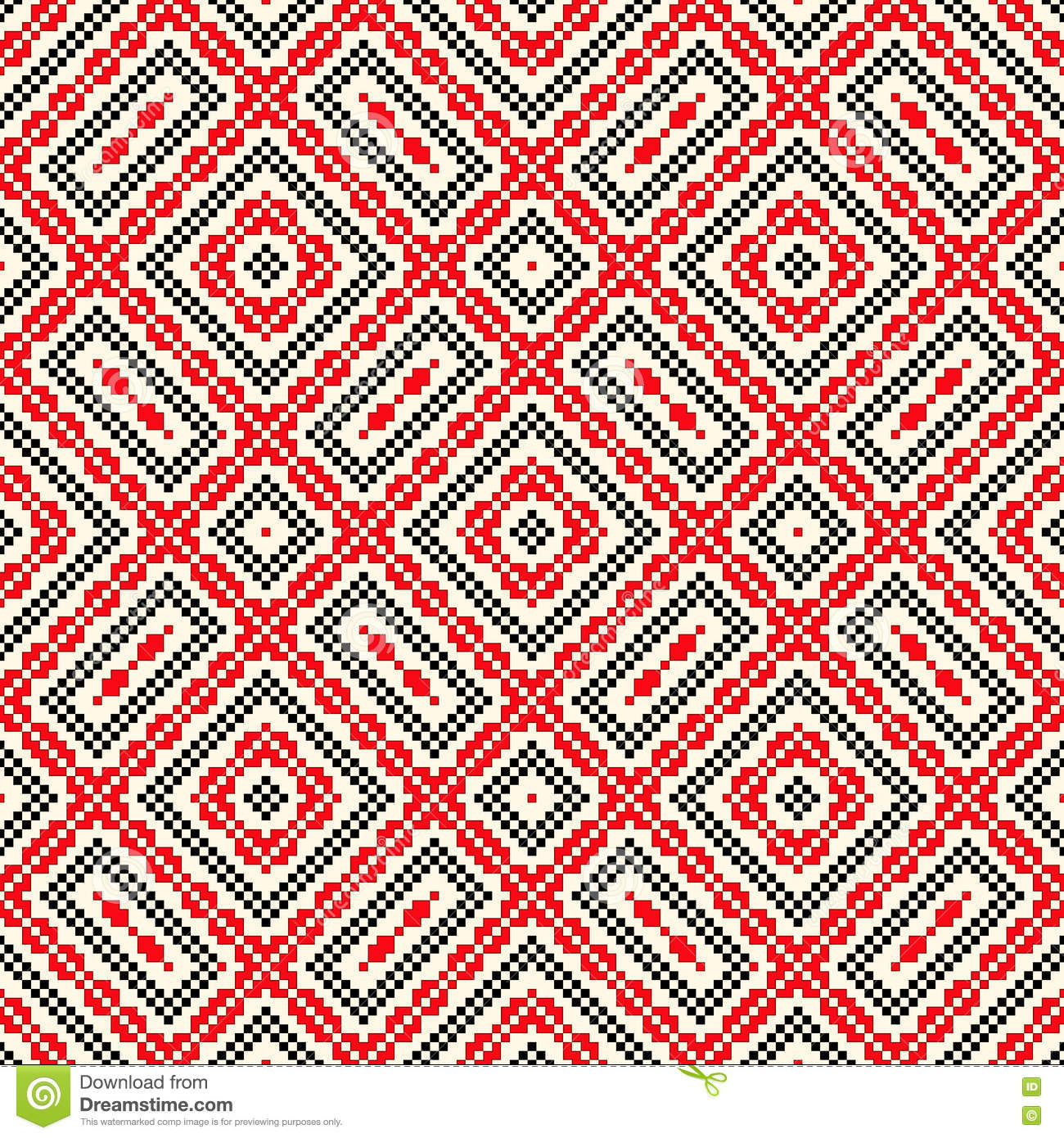 Seamless pattern with ethnic geometric abstract ornament