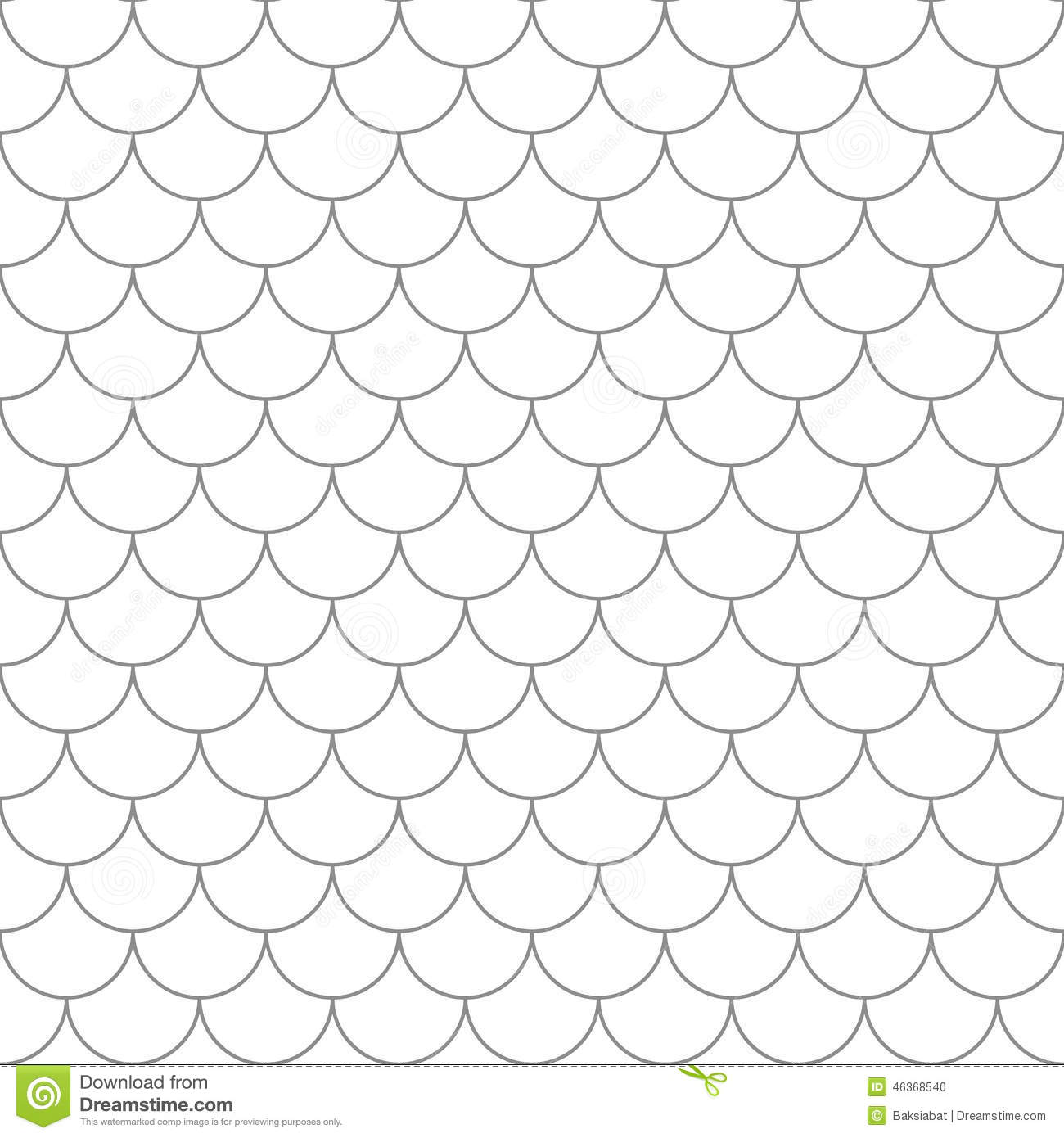 Seamless Pattern With Fish Scales Royalty Free Illustration