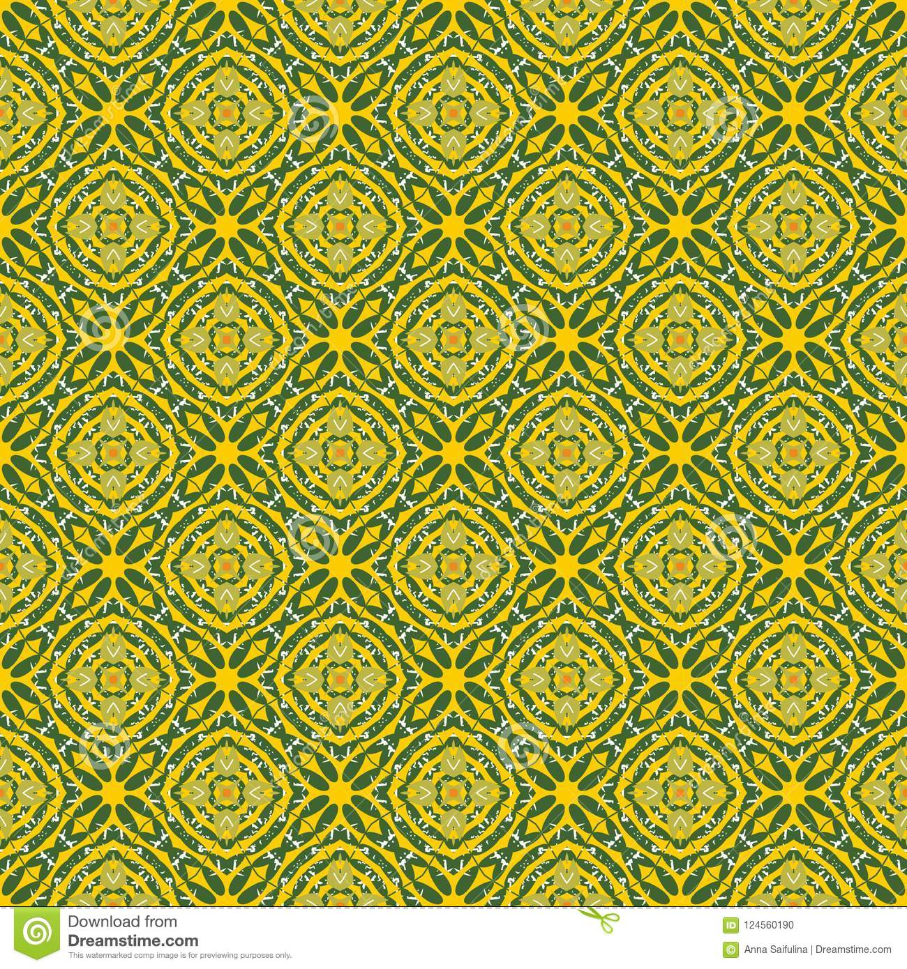 Seamless Pattern With Floral Motifs  Design For Printing On