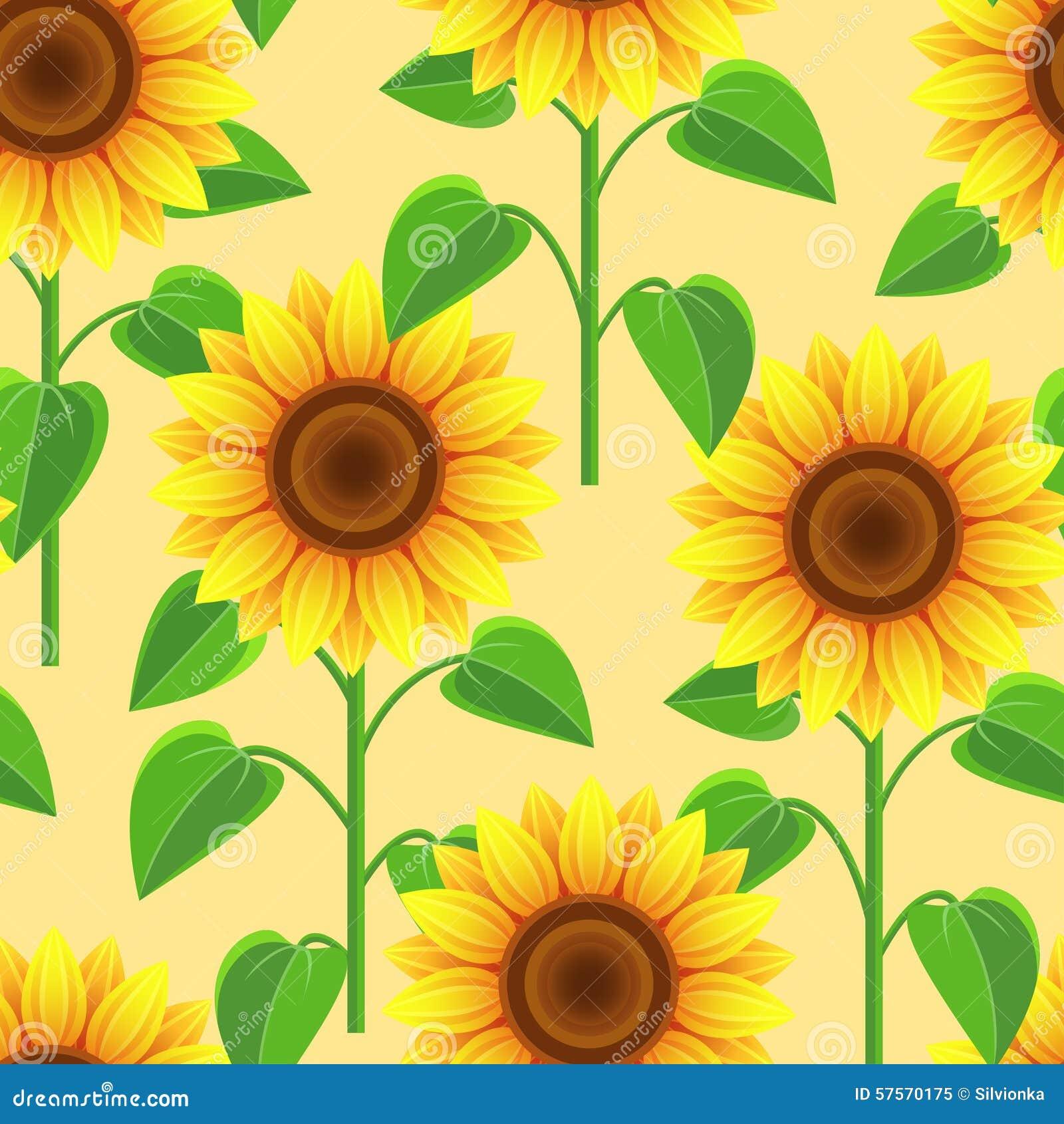 Seamless pattern with flowers sunflowers stock vector illustration seamless pattern with flowers sunflowers izmirmasajfo
