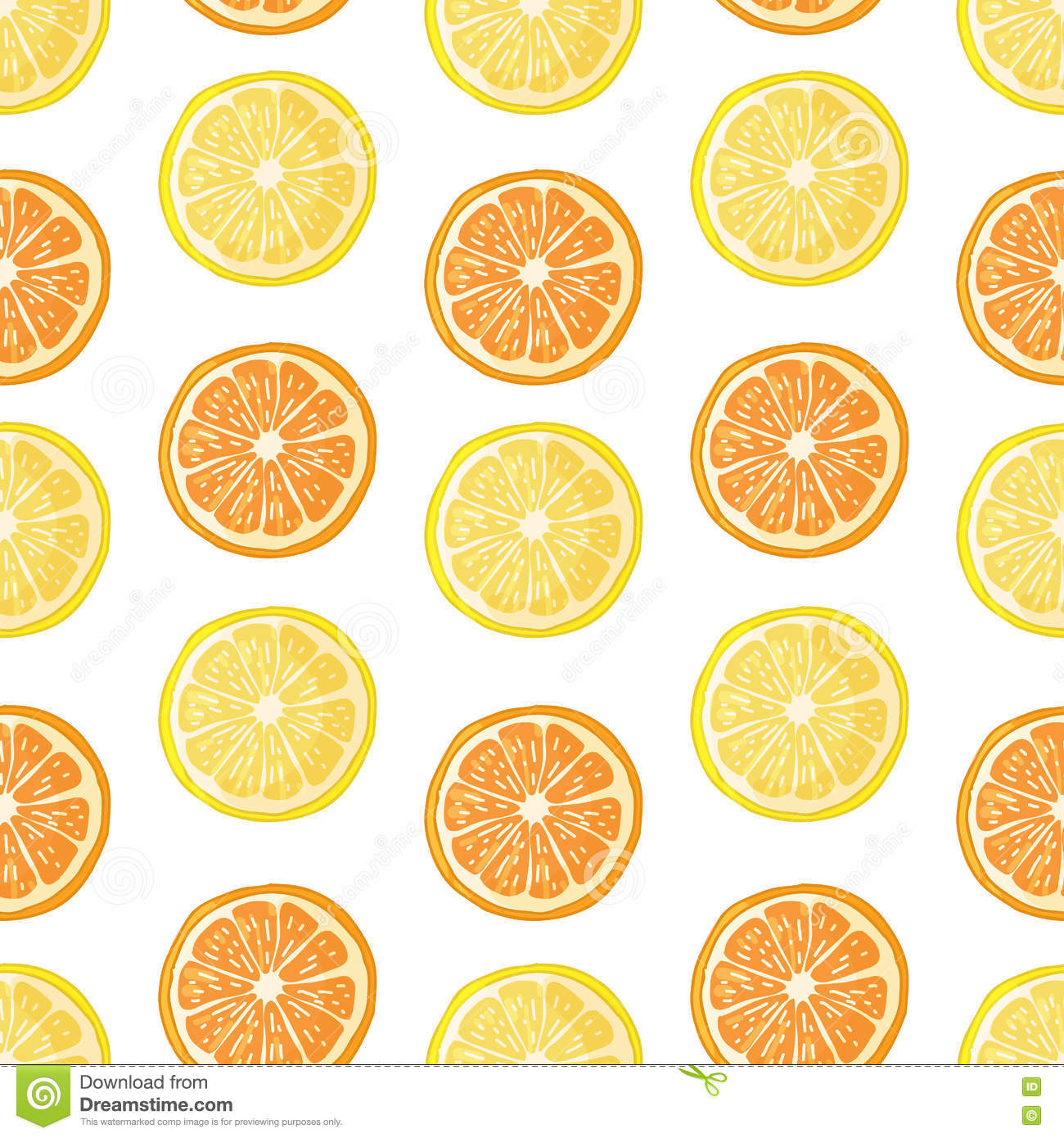 Fruit Citrus Seamless Pattern. Royalty-Free Stock Photo ...
