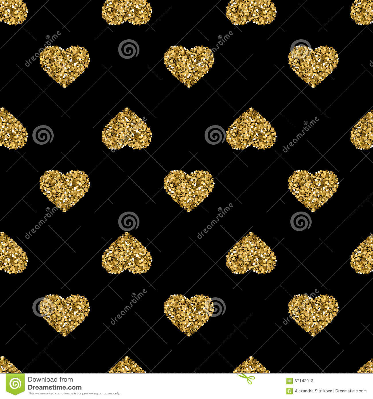 Photo Collection Black Gold Hearts Wallpaper