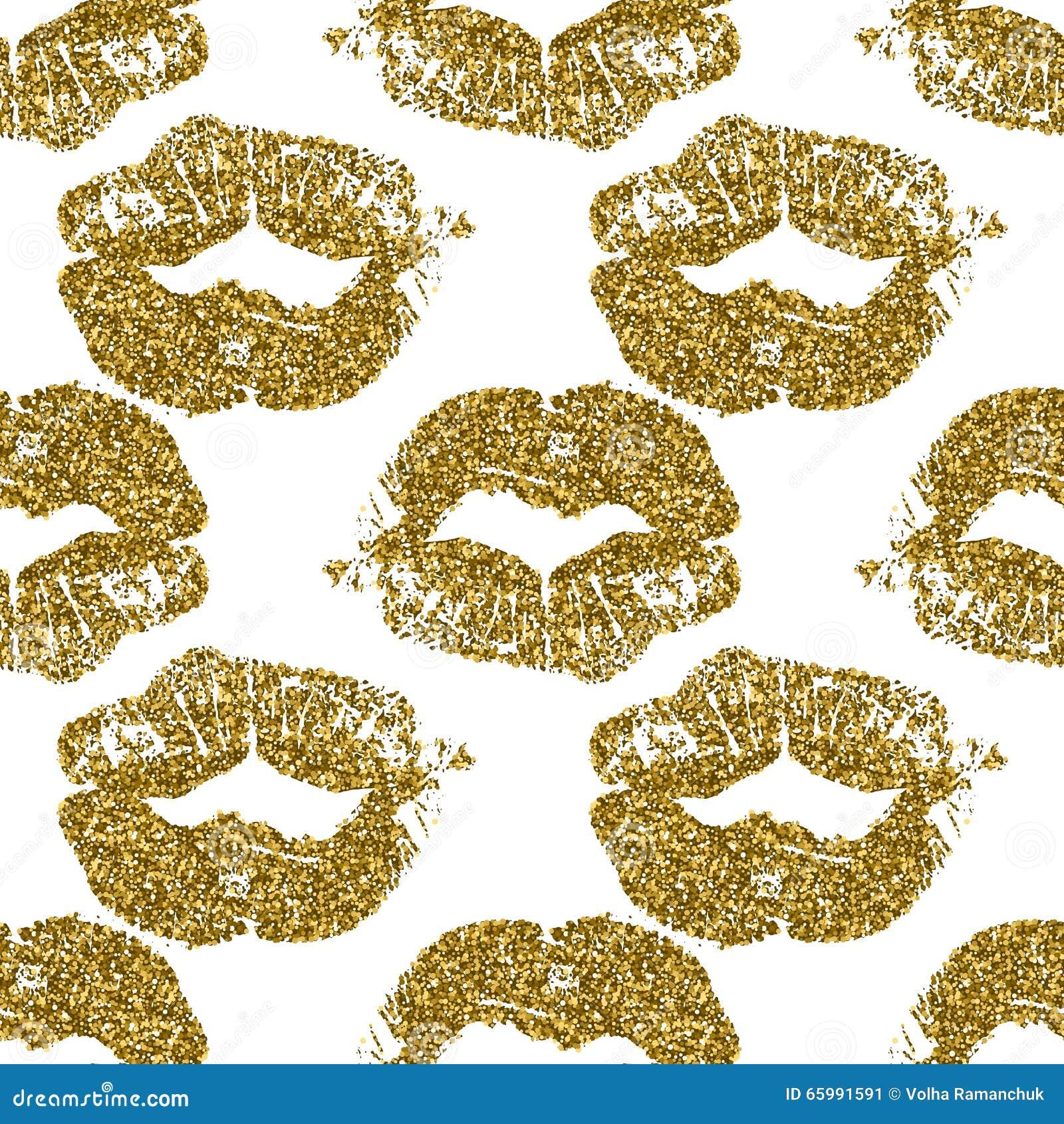 Seamless Lips Background Vector Illustration ...