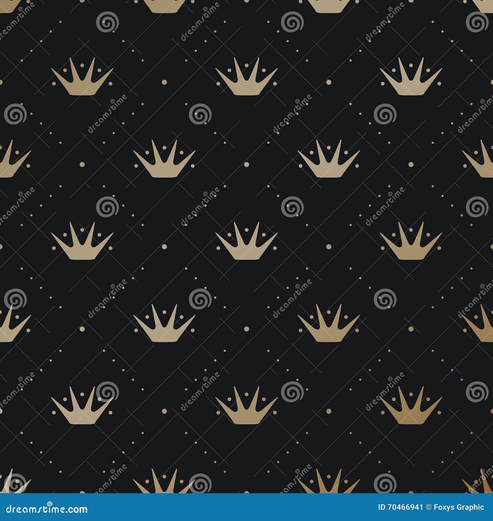 King crown black background