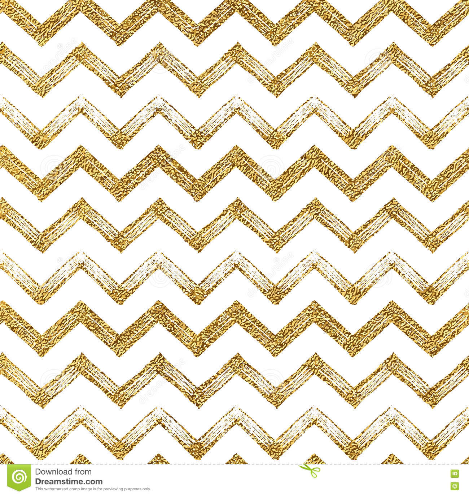 Seamless Pattern Of Gold Glitter Zigzag Chevron Background Golden Zig Zag Stripes Hand Drawn Vector Illustration For Textile Wallpaper Web