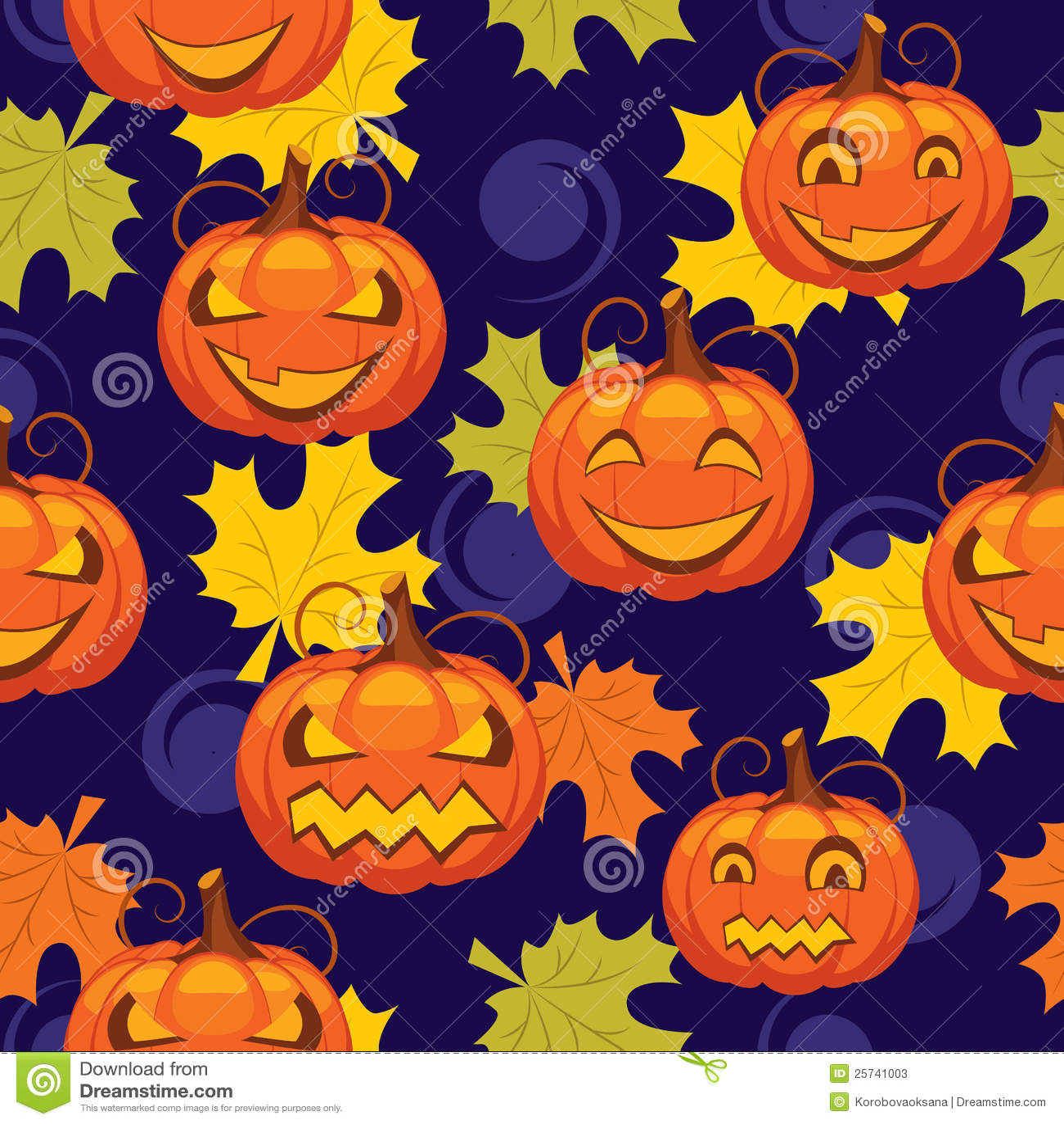 Seamless pattern of Halloween