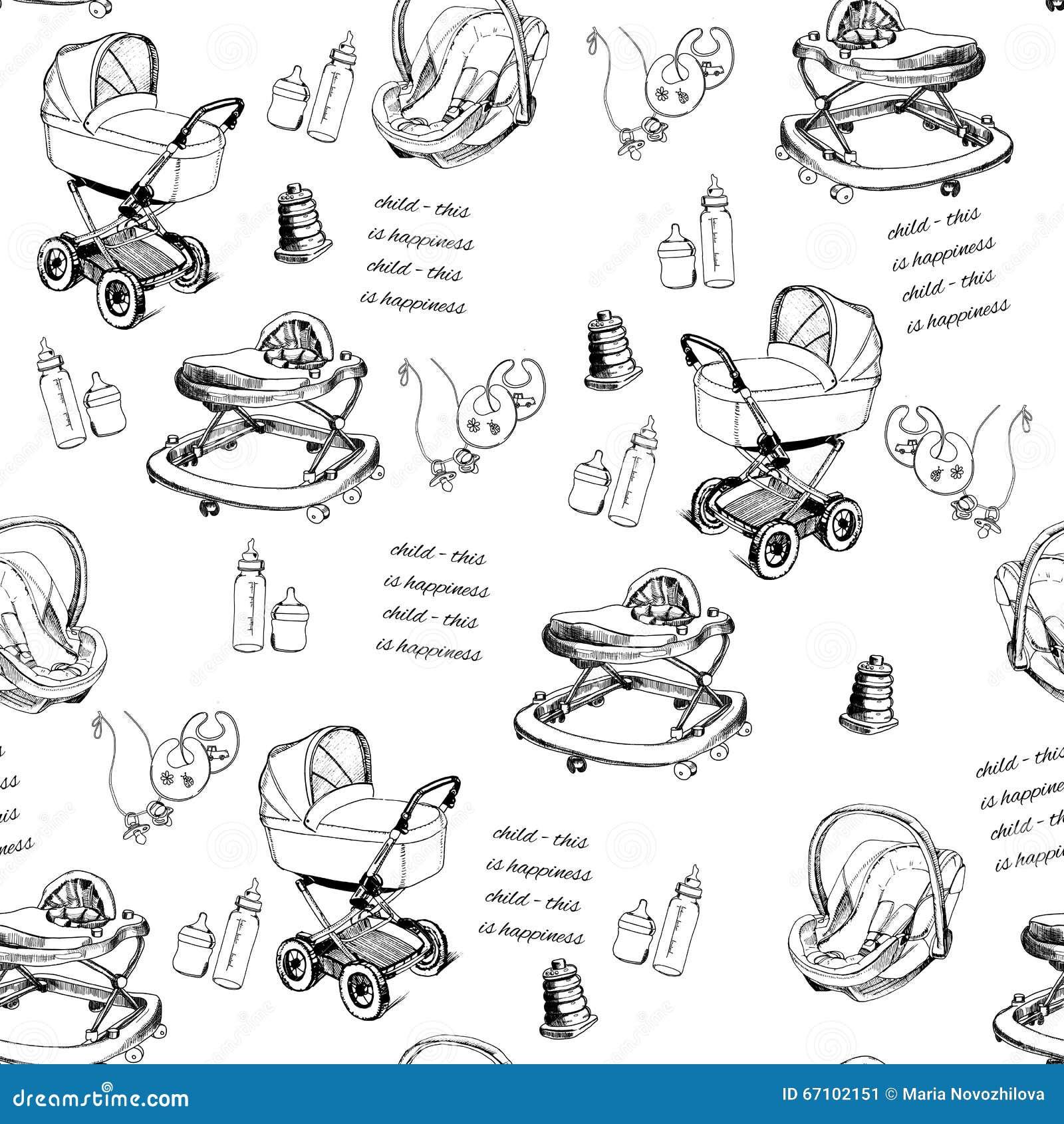 Baby Walker Stock Illustrations – 171 Baby Walker Stock ...