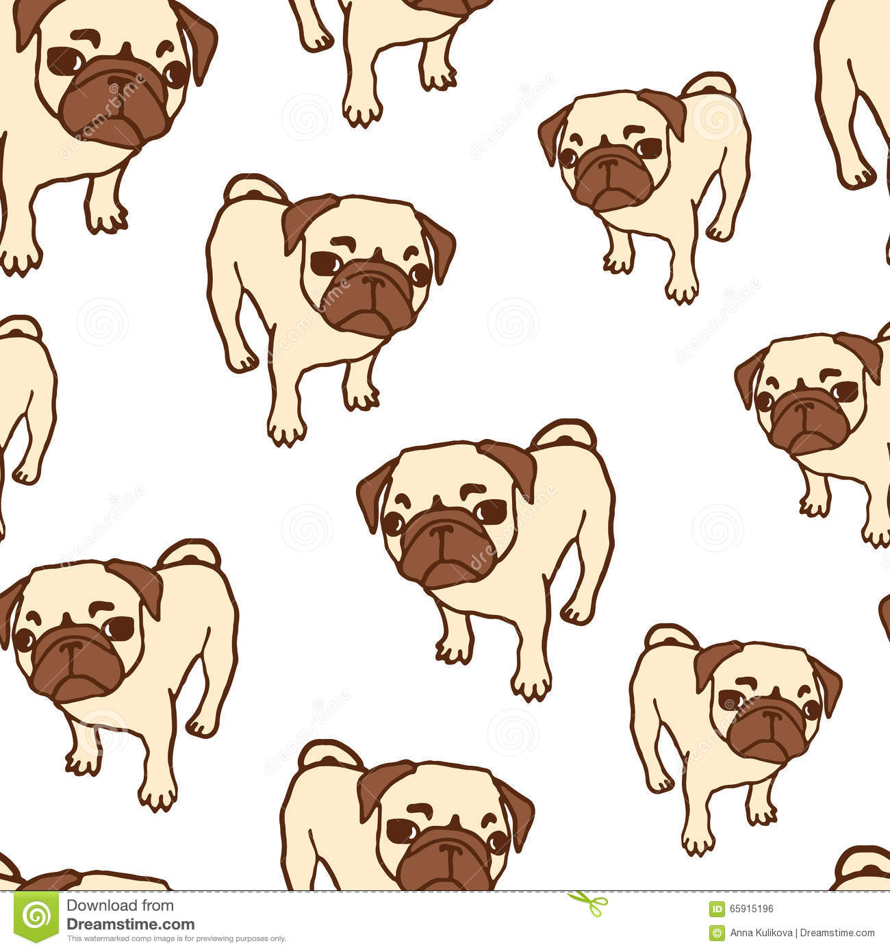 Uncategorized Drawn Puppies seamless pattern with hand drawn pug puppies stock vector image royalty free vector