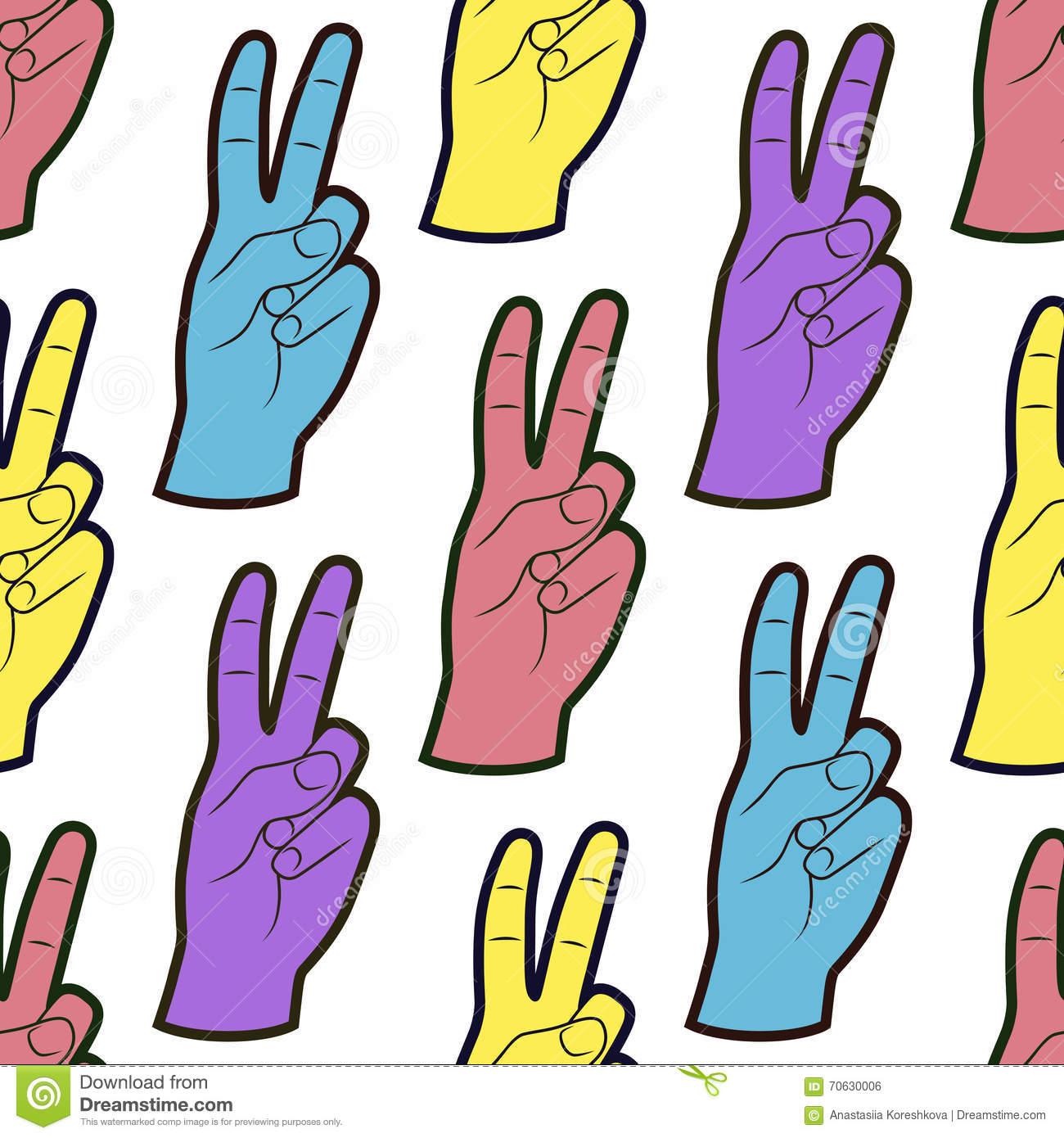victory or peace symbol with hands royaltyfree stock