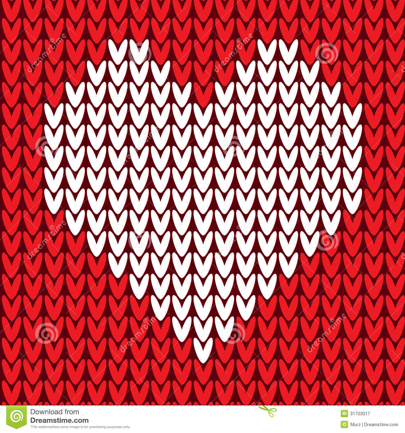 Knitting Vector Patterns : Seamless pattern with heart stock vector image