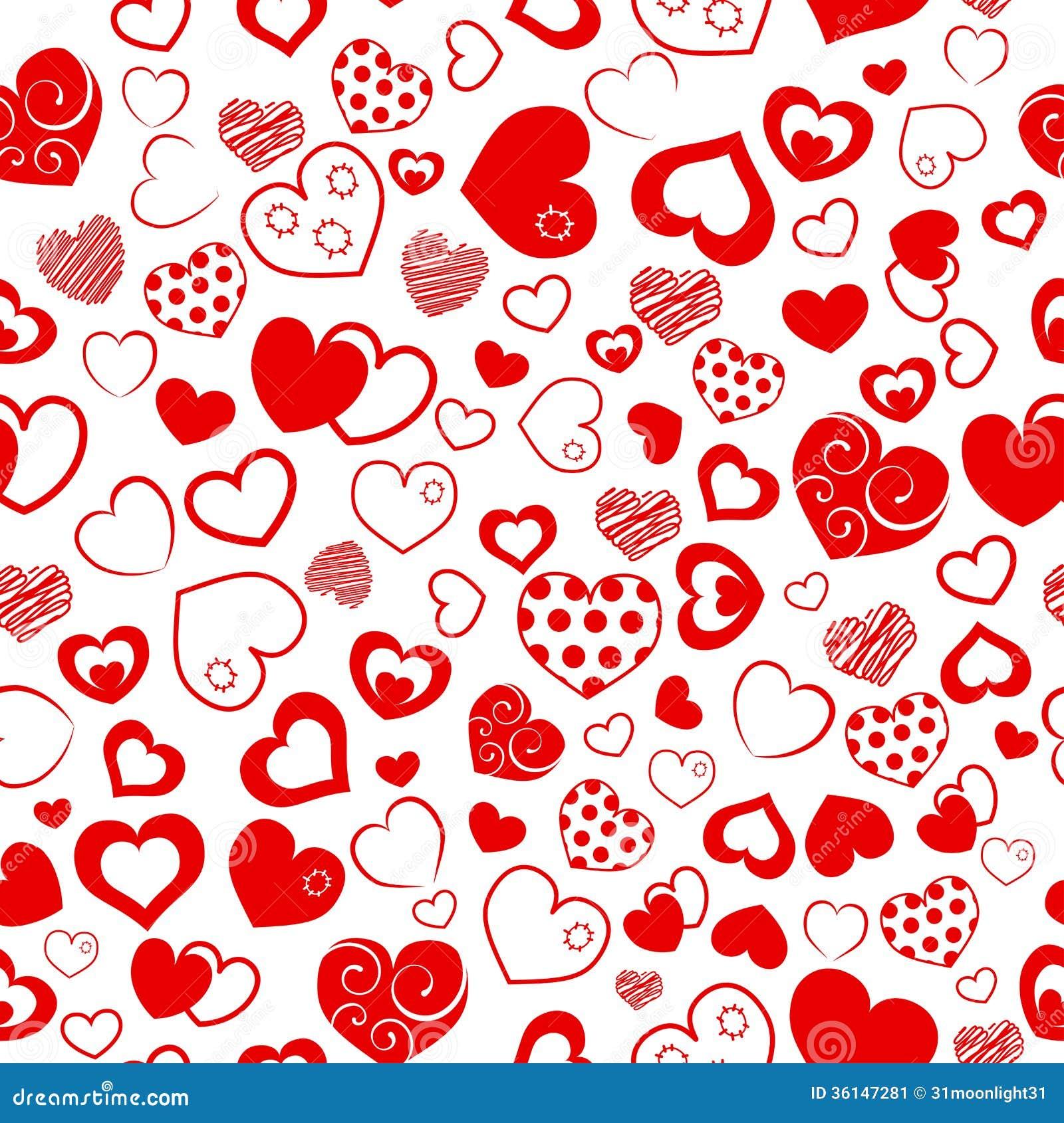Seamless pattern of hearts stock vector image of love - Decoraciones para san valentin ...