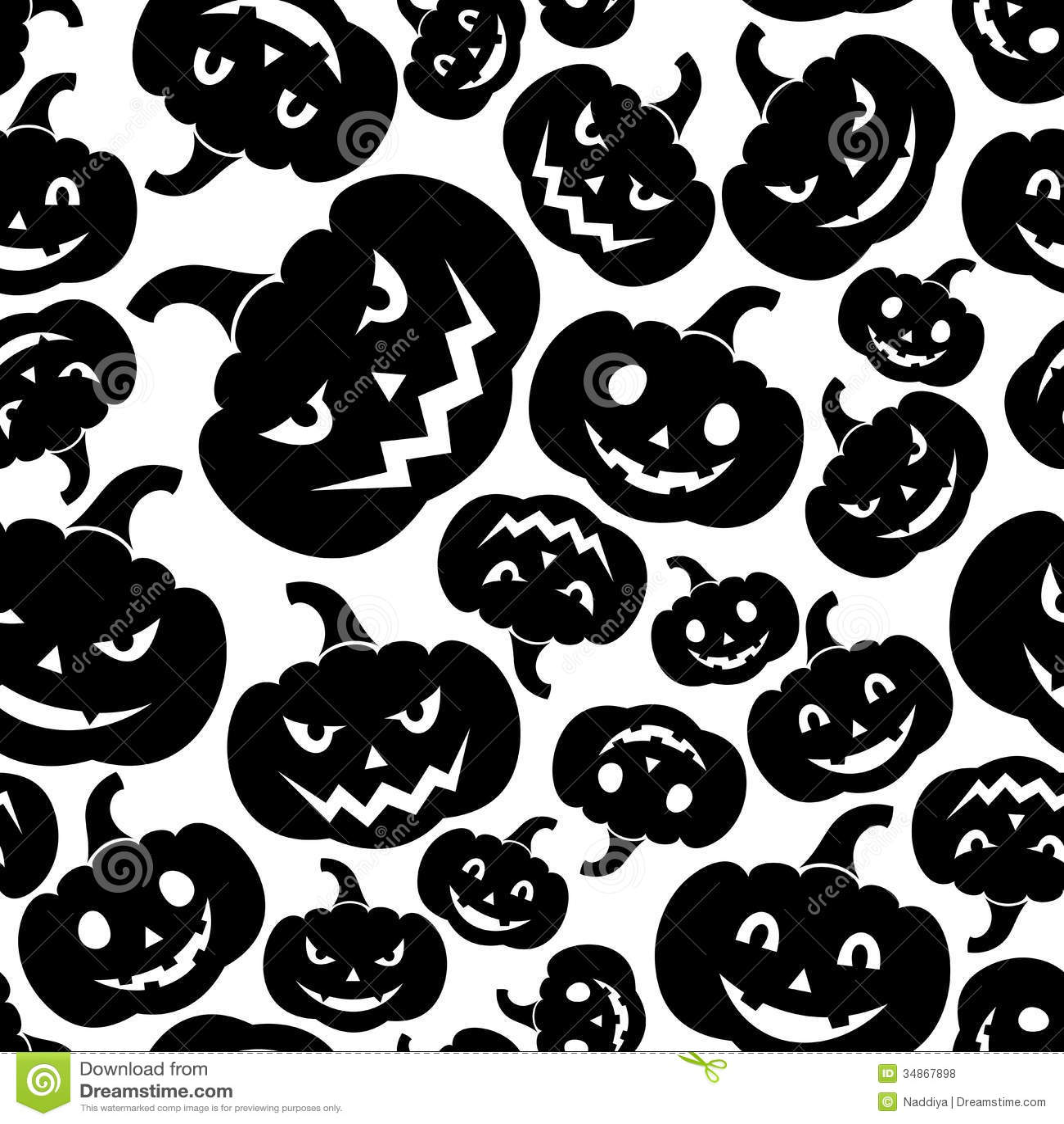 Seamless Pattern With Jack-O-Lantern (Halloween Pu Royalty ...