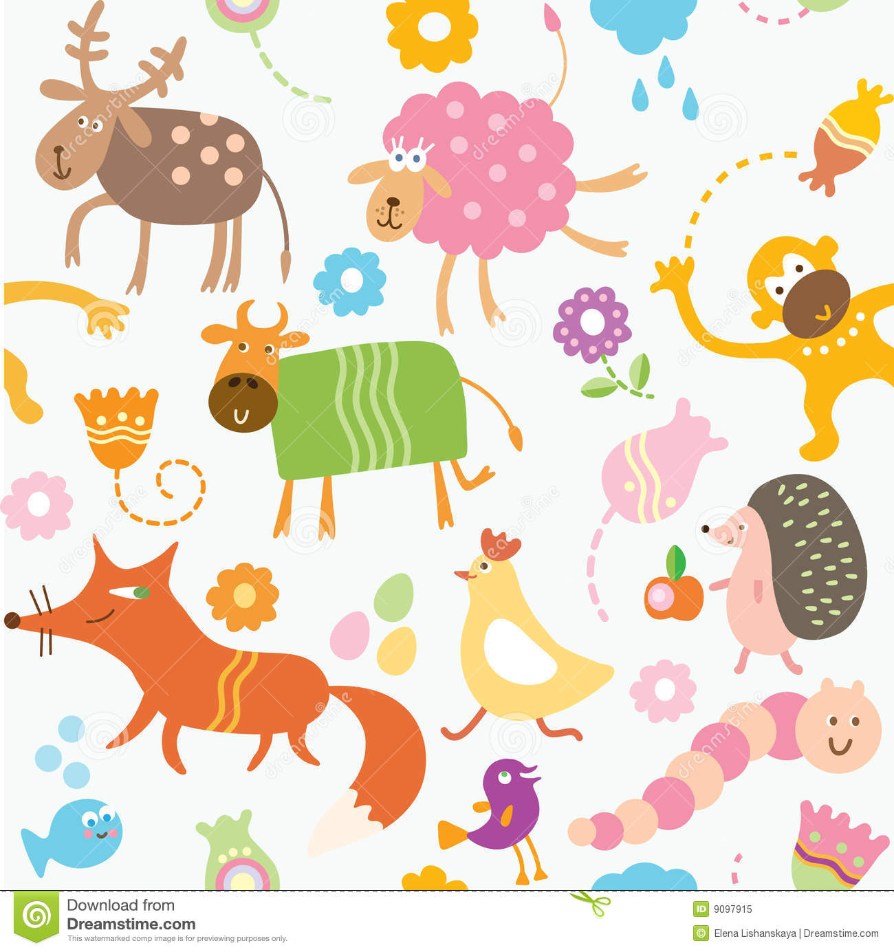 royalty free stock photo download seamless pattern for kids animals