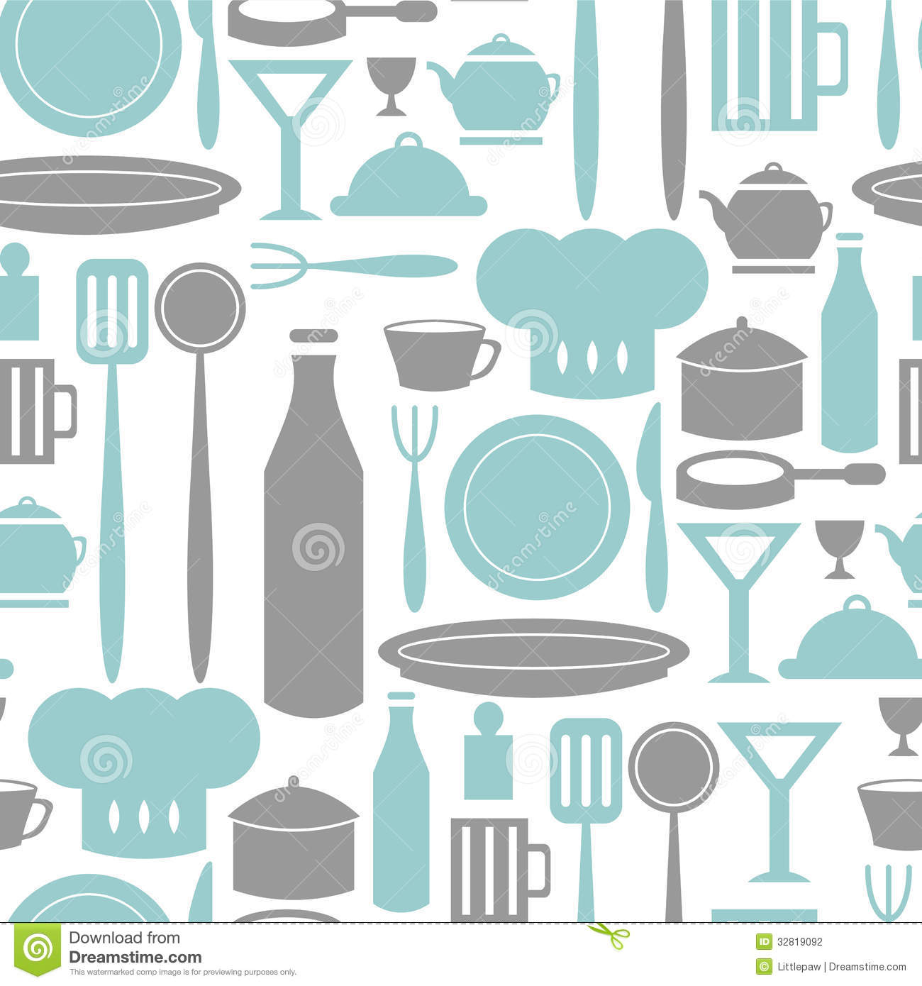 Seamless Pattern Kitchen And Cooking Stock Vector - Illustration of ...