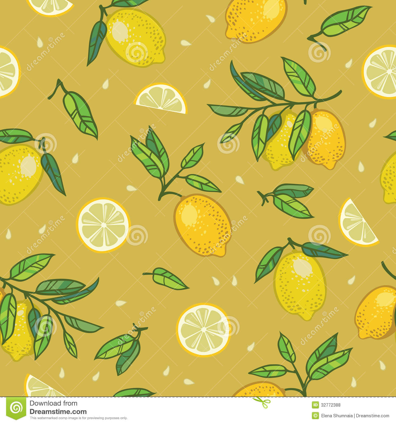 Lemon yellow wallpaper