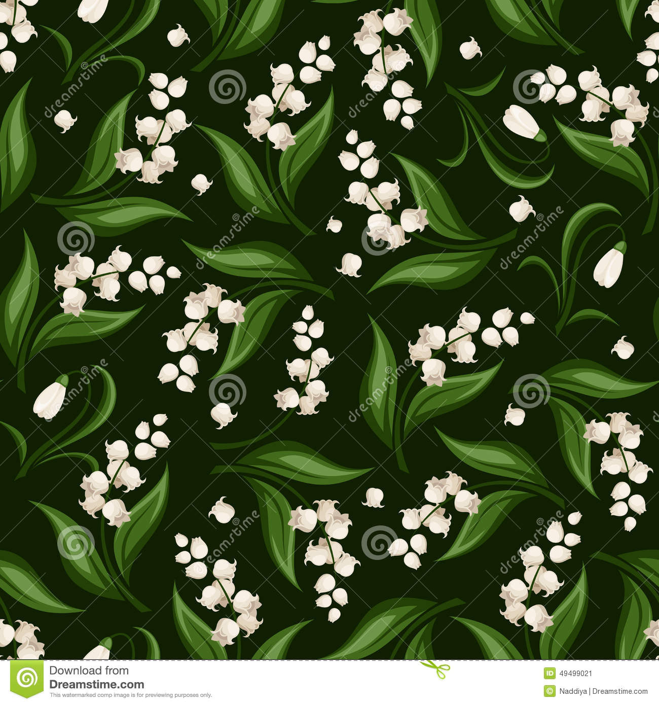 Seamless pattern with lily of the valley and snowdrop flowers seamless pattern with lily of the valley and snowdrop flowers vector illustration izmirmasajfo